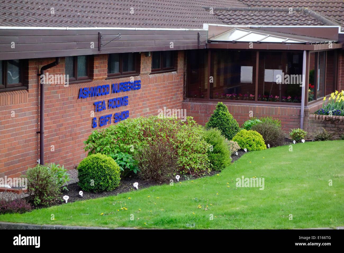 Ashwood Nurseries Tea Rooms & Gift Shop, Ashwwod, Staffordshire, England, UK Stock Photo