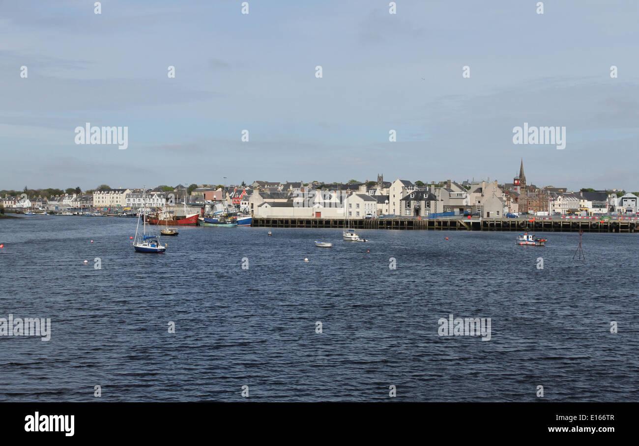 Stornoway waterfront Isle of Lewis Scotland  May 2014 - Stock Image