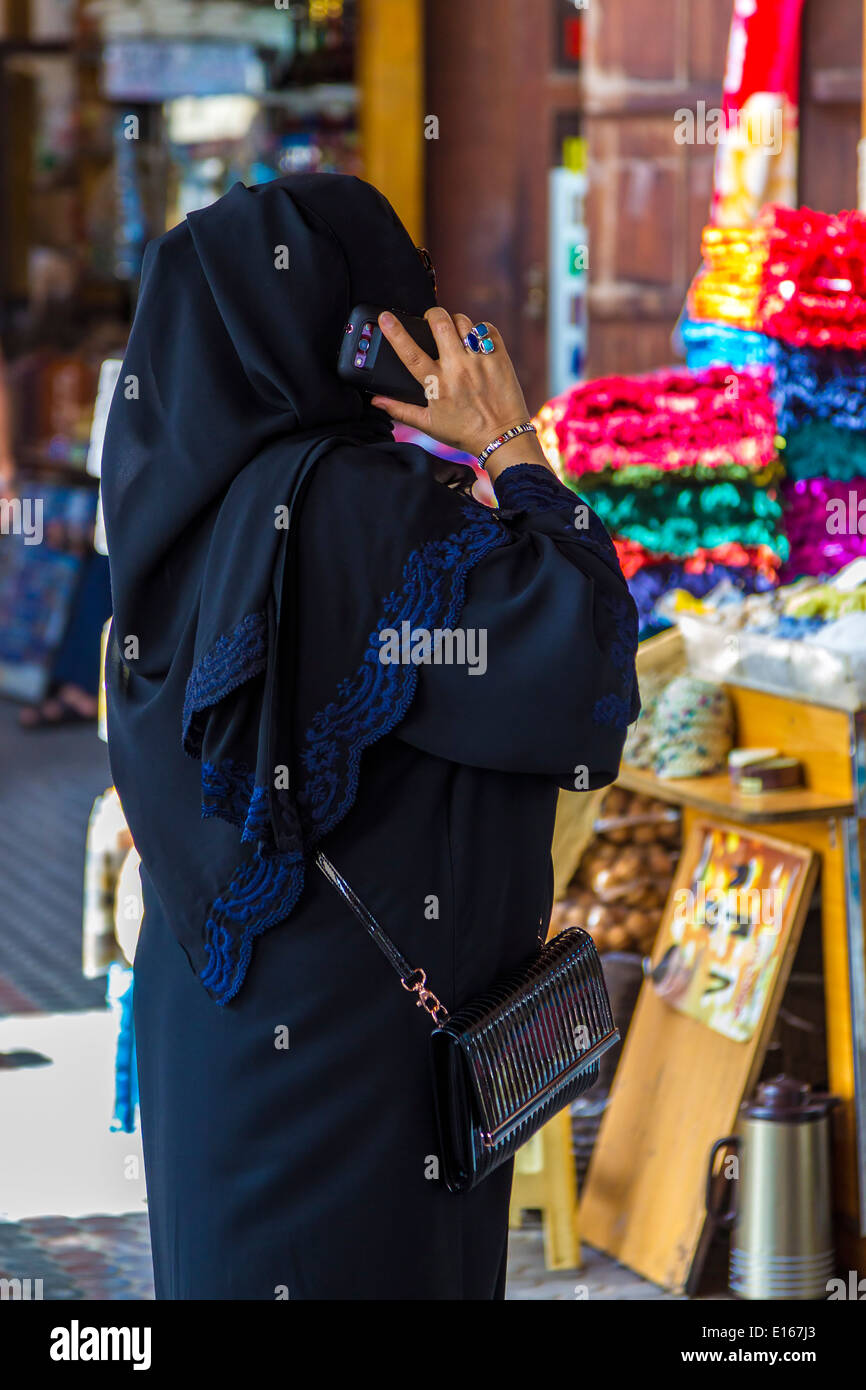 Souks in Dubai, United Arab Emirates - Stock Image