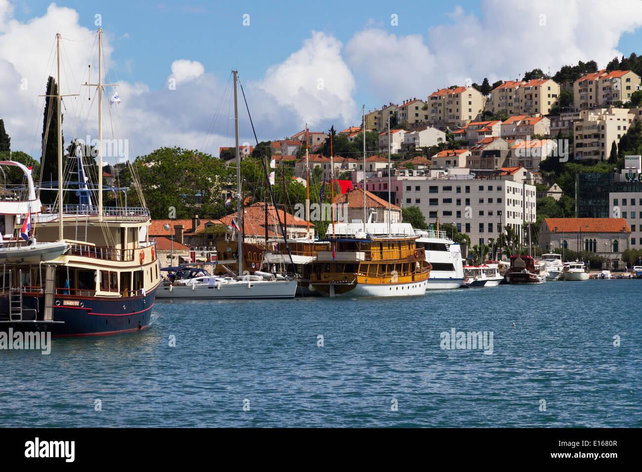 Dubrovnik Port Harbour Croatia Stock Photo