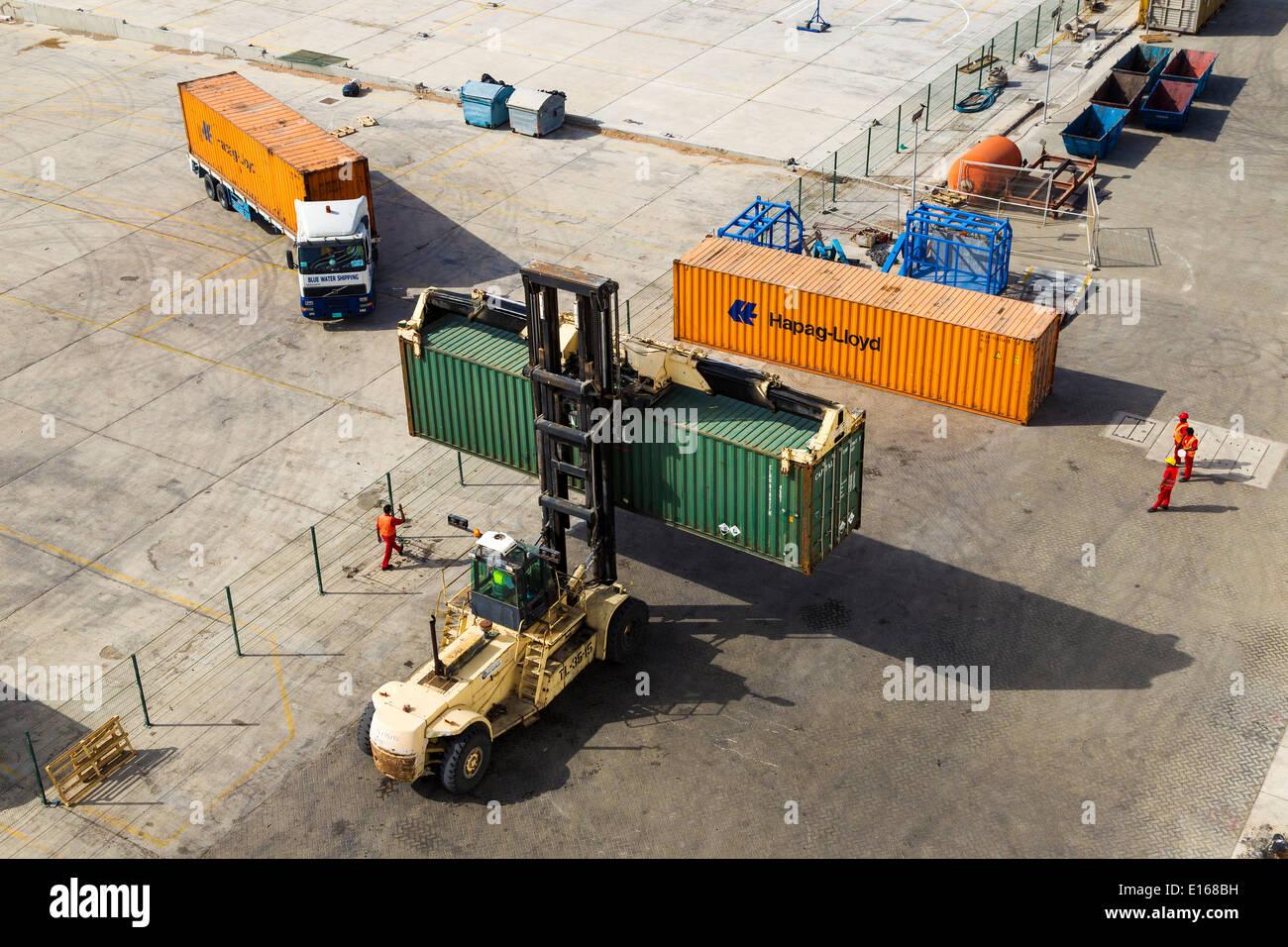 Dockside Dubai, United Arab Emirates - Stock Image