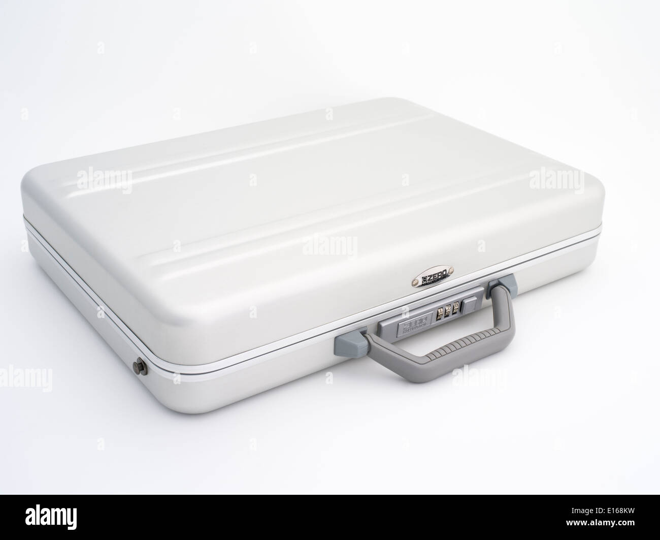 Zero Halliburton aluminium briefcase ( aluminum ) a classic movie MacGuffin - Stock Image