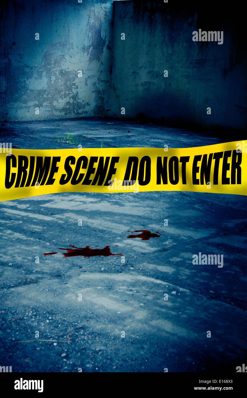 crime scene - Stock Image