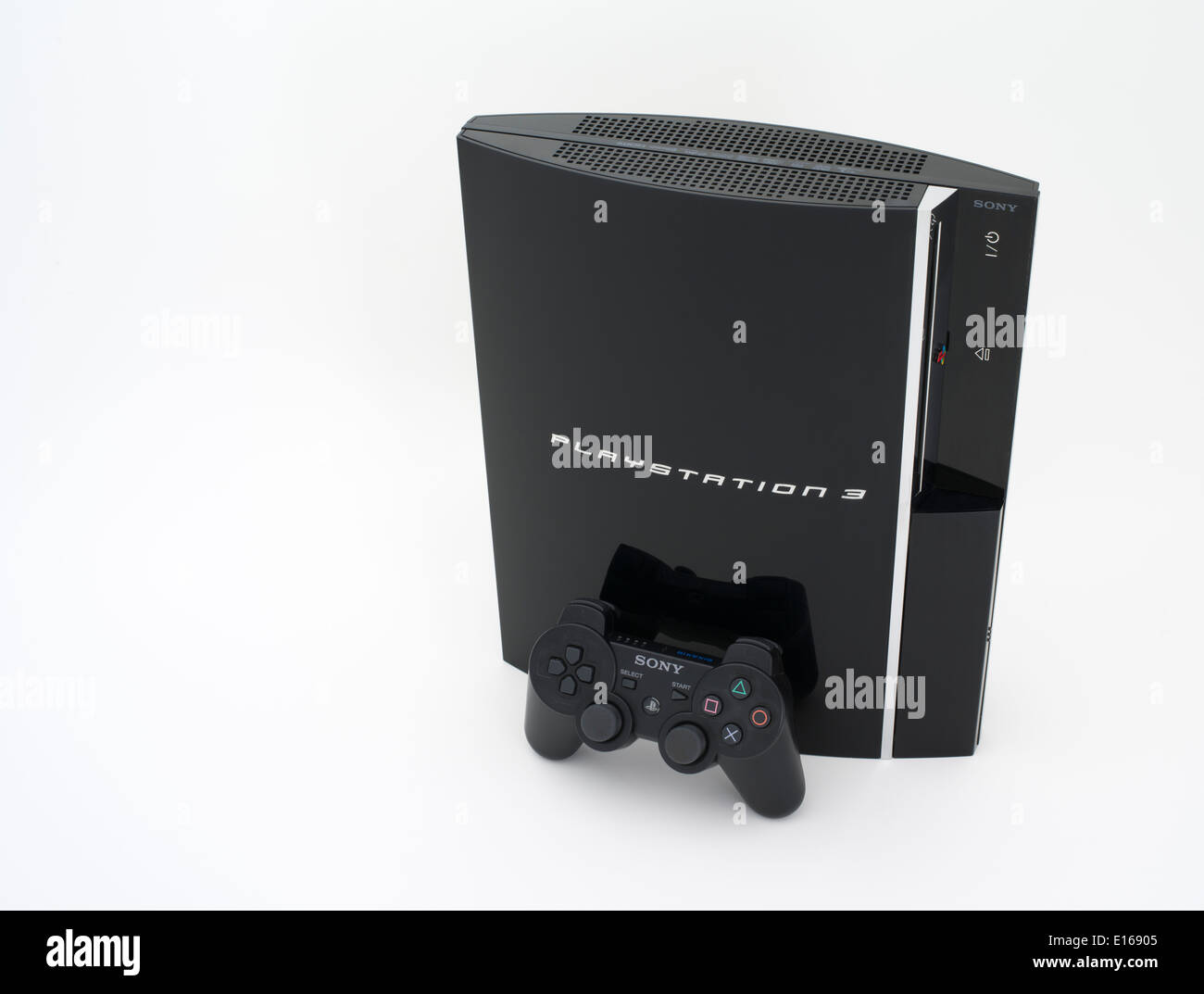 Sony PlayStation 3 video game console system released Japan 11/ 11/ 2006 - Stock Image