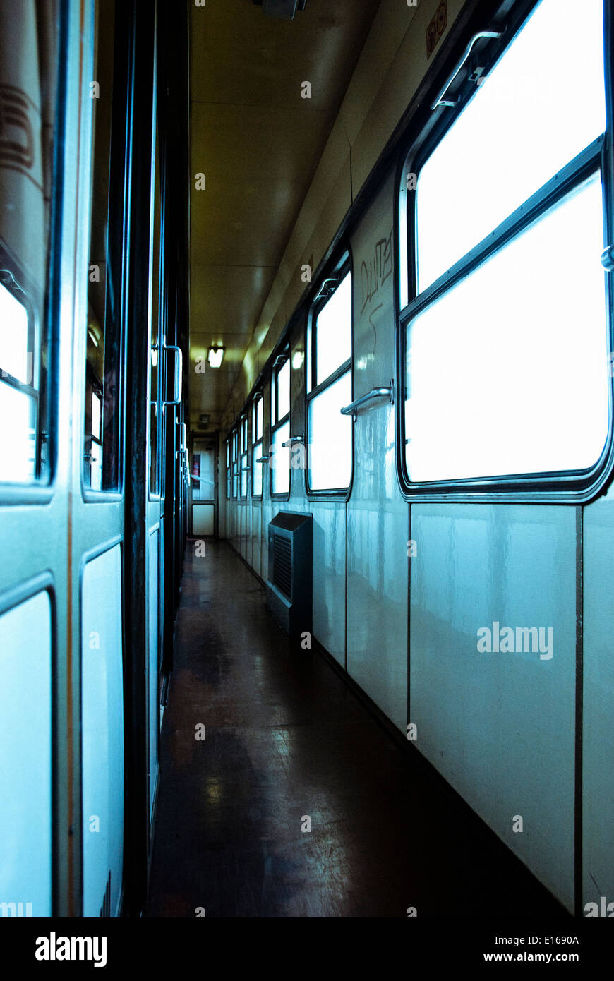 Czech railways intercity train corridor - Stock Image