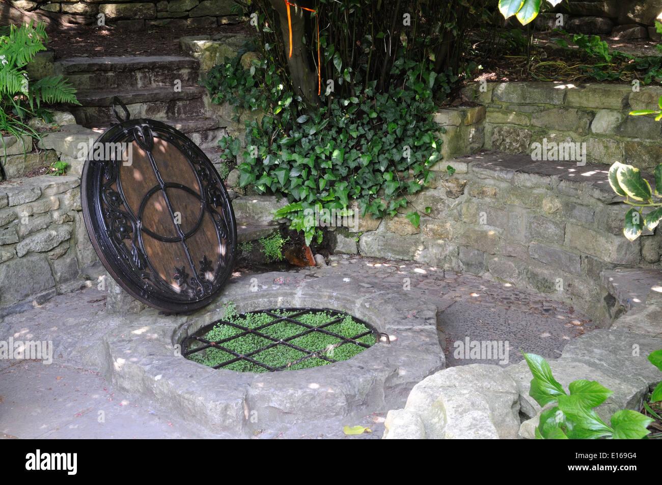 Chalice Well Glastonbury Somerset England UK GB - Stock Image