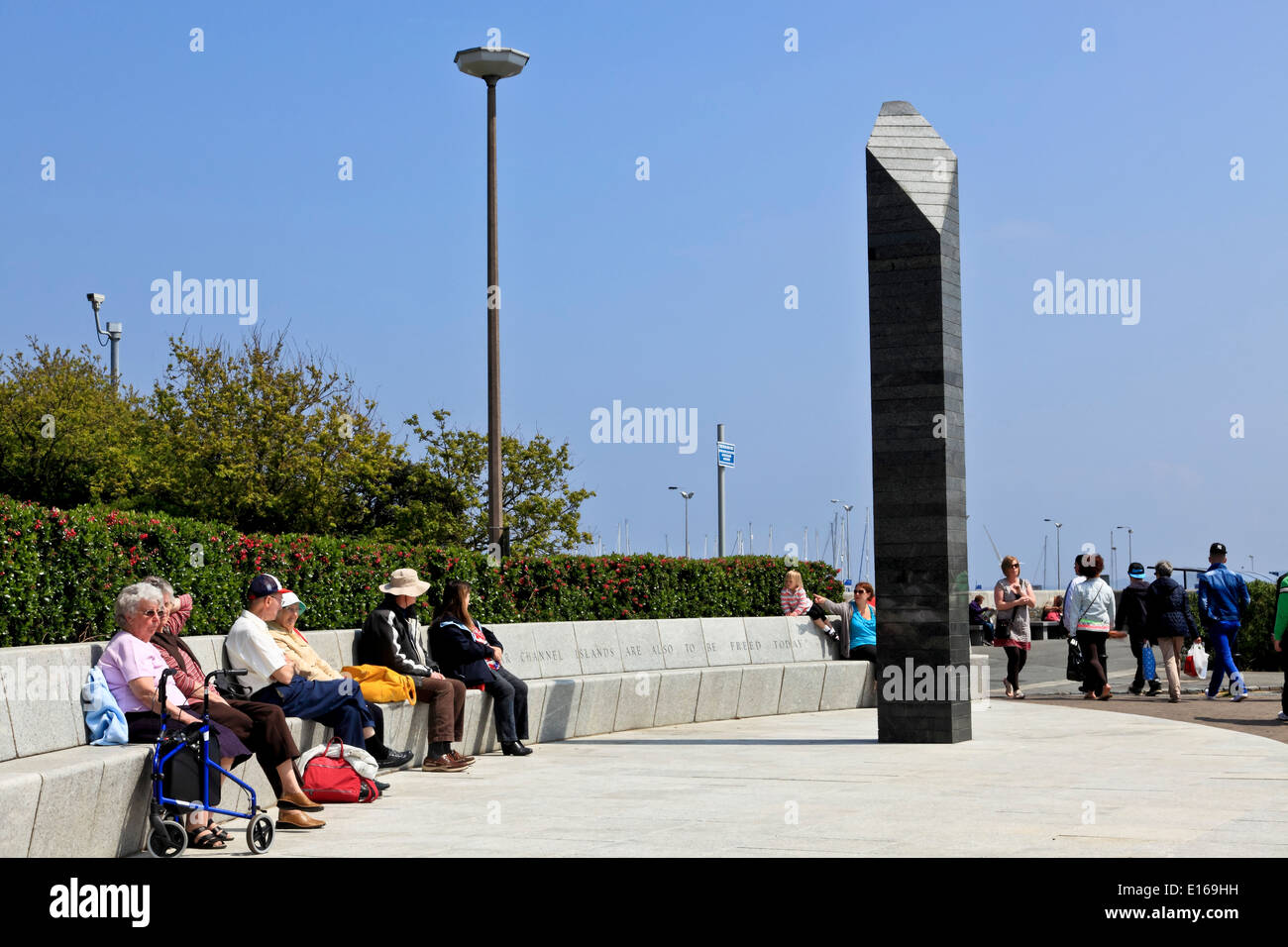 9200. St Peter Port, WW2 War Memorial, Guernsey, Channel Islands, UK, Europe - Stock Image