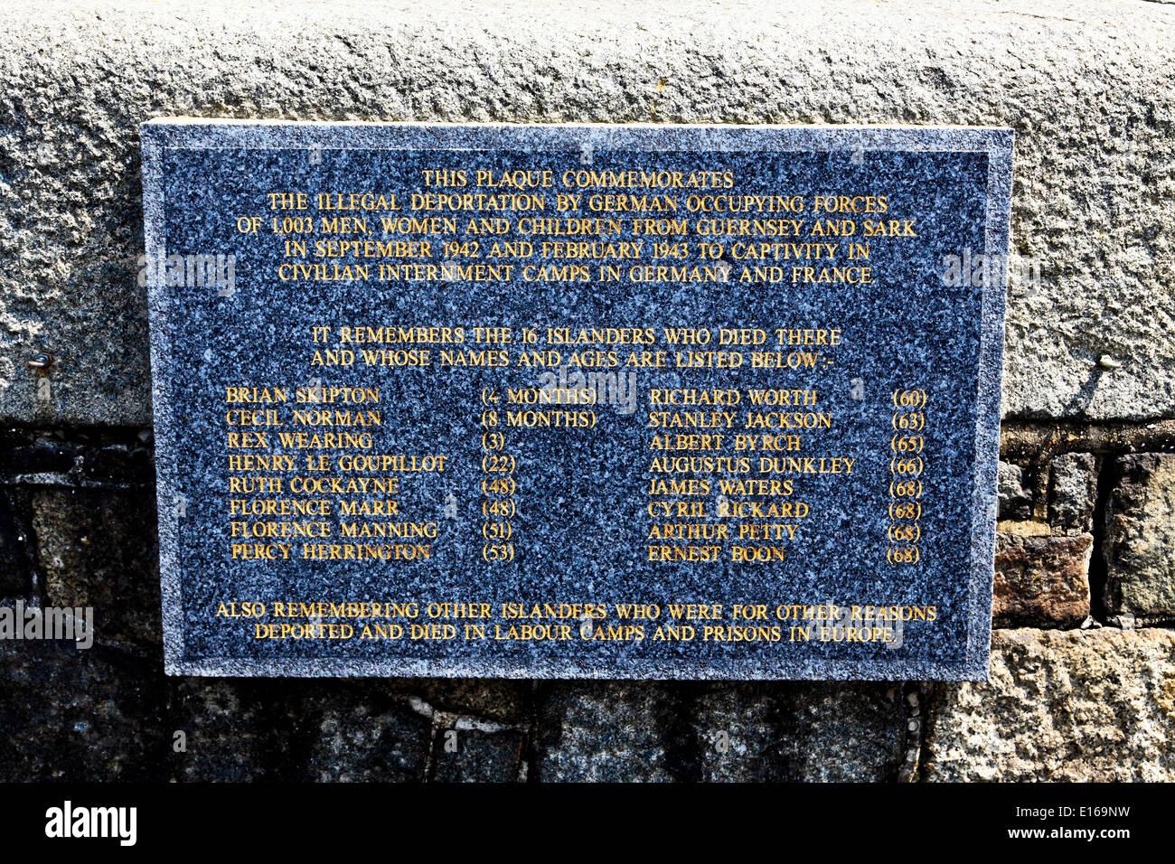 9202. St Peter Port, WW2 War Memorial, Guernsey, Channel Islands, UK, Europe - Stock Image