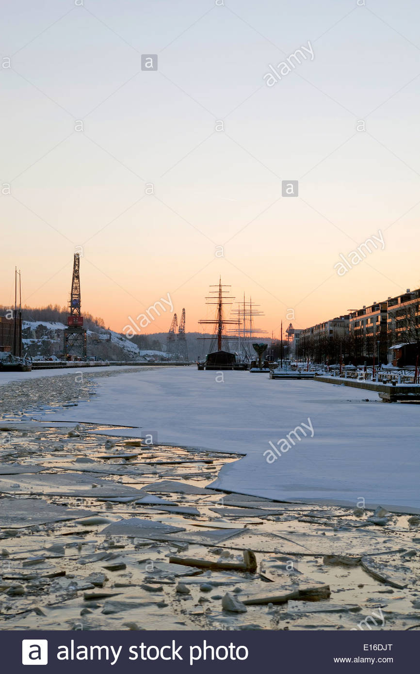 River Aura in winter - Stock Image