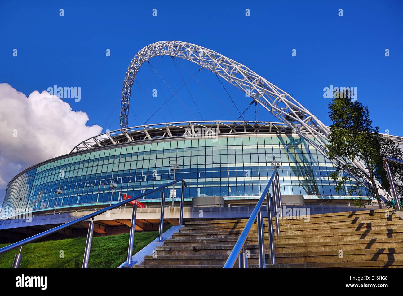 The Lattice Arch of Wembley Stadium, London, England - Stock Image