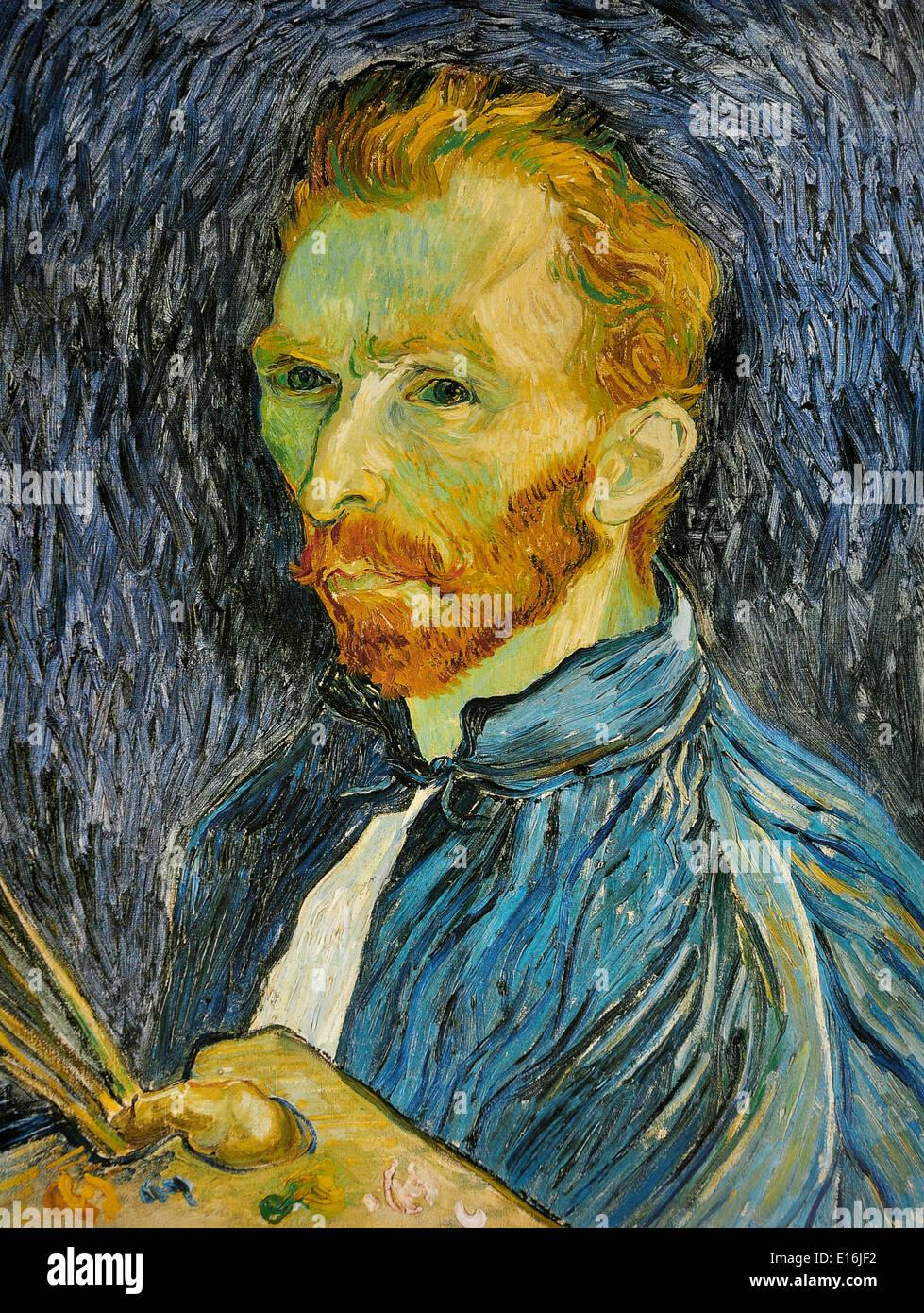 Self-portrait by Vincent Van Gogh, 1889 - Stock Image