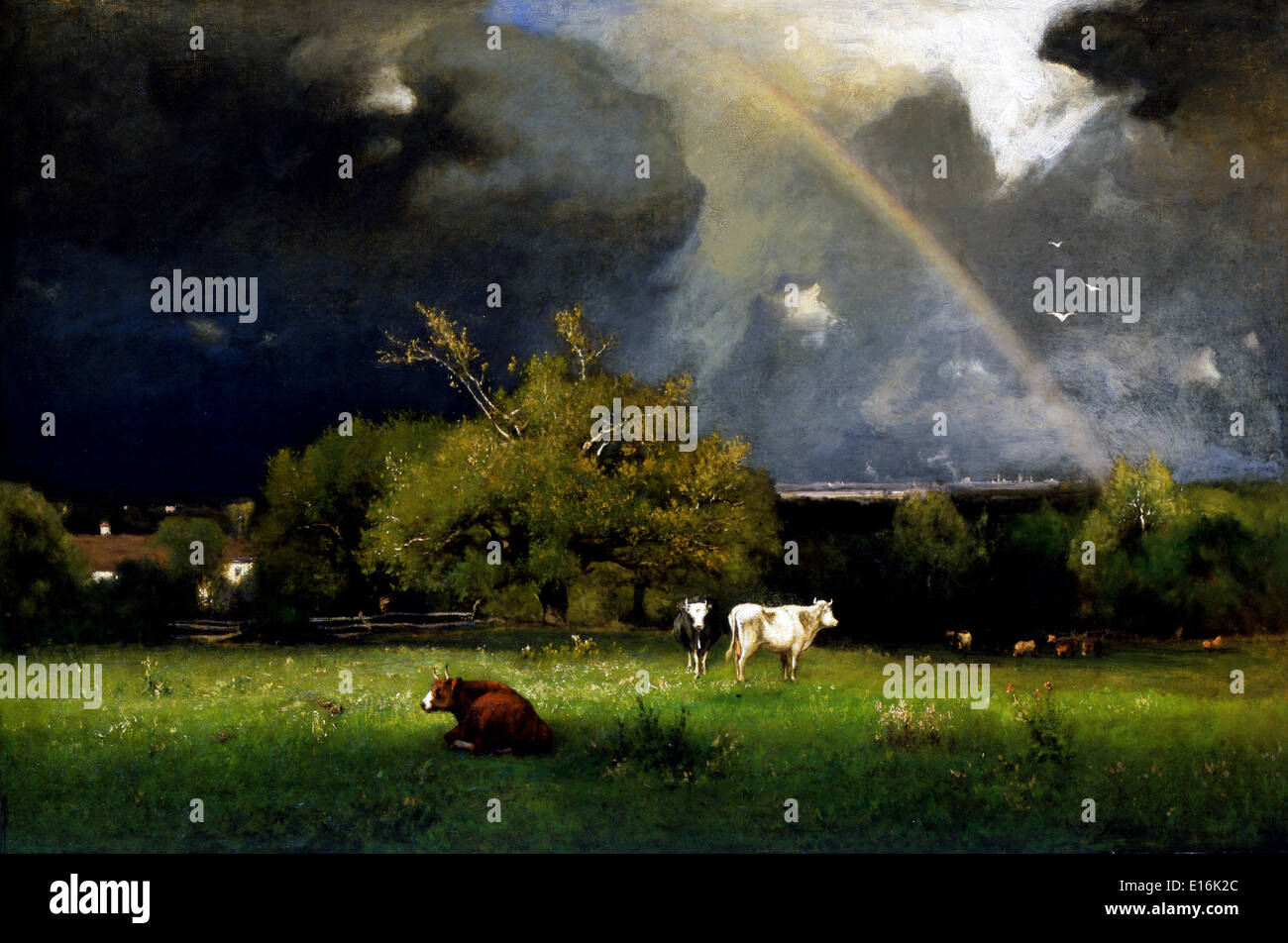 The Rainbow by George Inness, 1879 - Stock Image