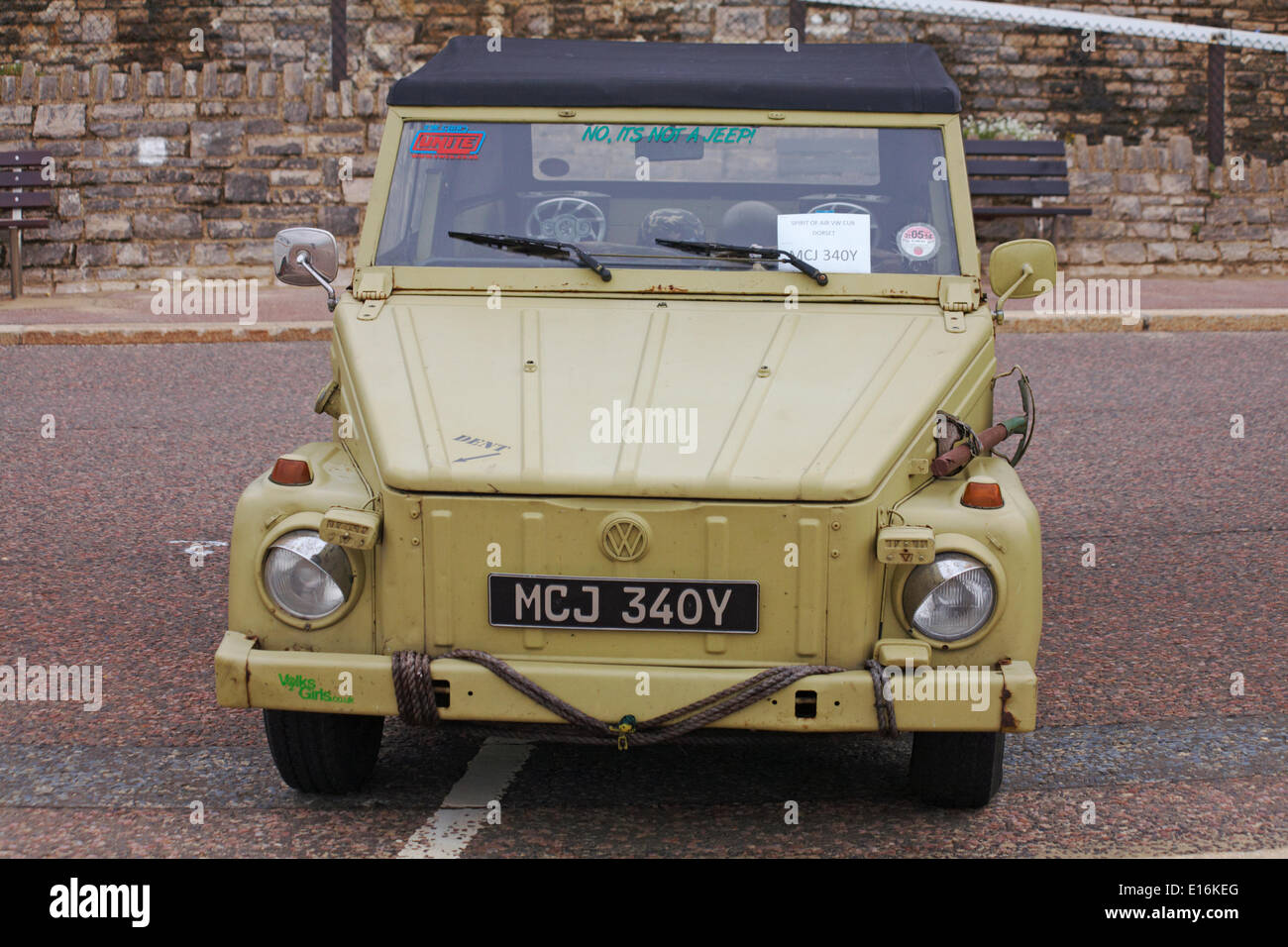 No it's not a jeep - it's a Volkswagen! on display at the first ever Bournemouth Wheels Festival in May. © Carolyn Jenkins/Alamy Live New Credit:  Carolyn Jenkins/Alamy Live News - Stock Image