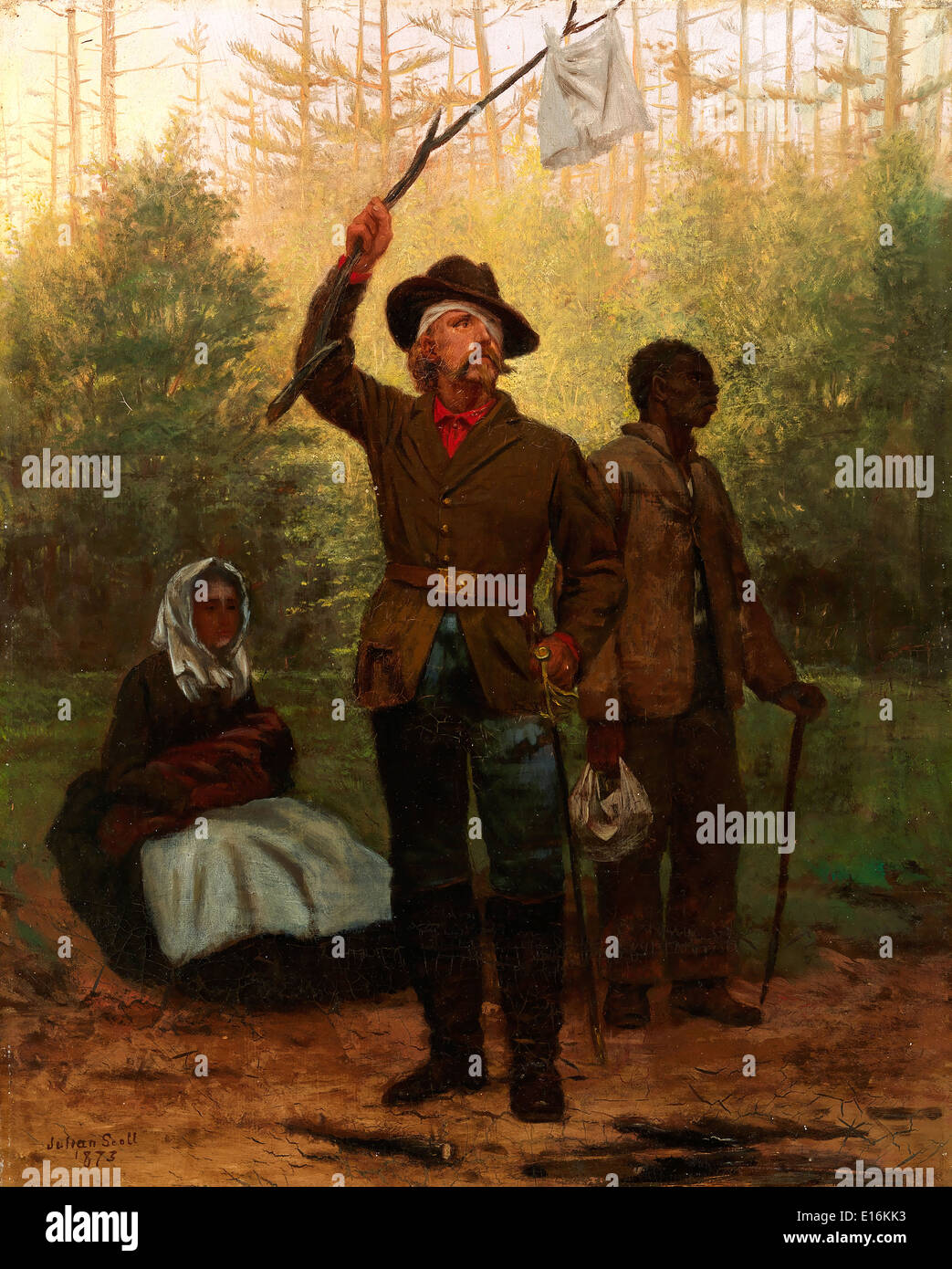Surrender of a Confederate Soldier by Julian Scott, 1873 - Stock Image