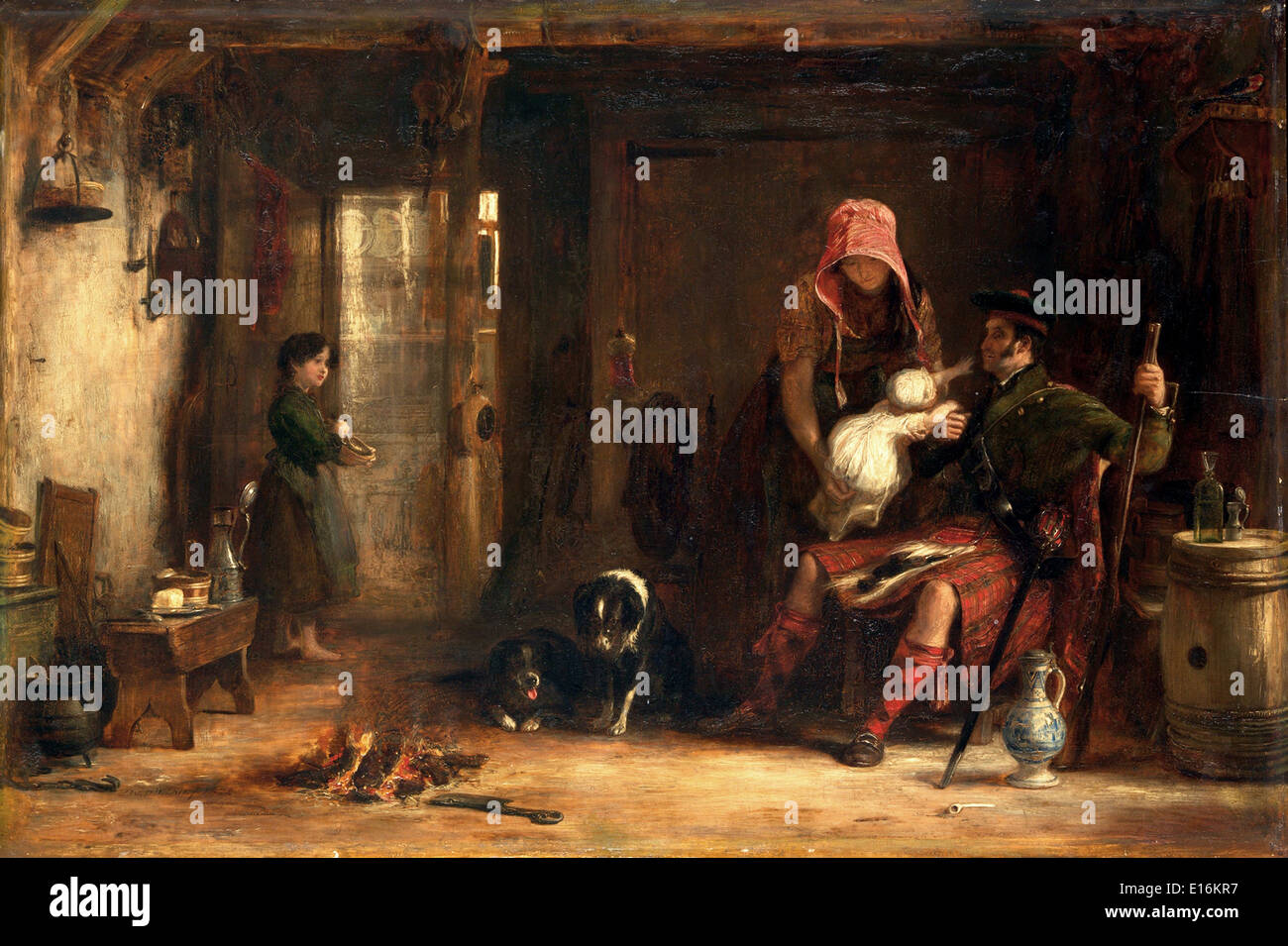 The Highland Family by Sir David Wilkie, 1824 - Stock Image