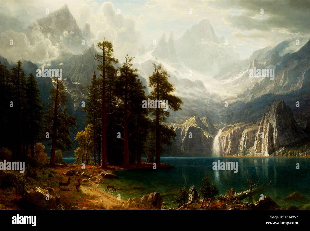 Sierra Nevada by Albert Bierstadt, 1871 - Stock Image