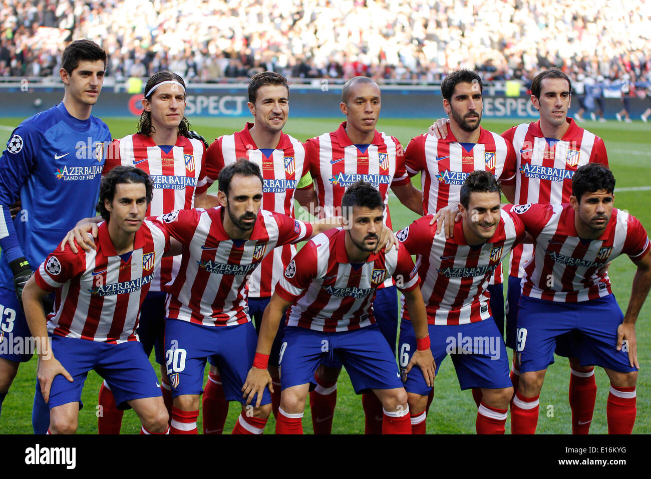 192bae476 Atlético de Madrid team line up before the match for UEFA Champions League  Final  Real Madrid x Atlético de Madrid at Luz Stadium in Lisbon