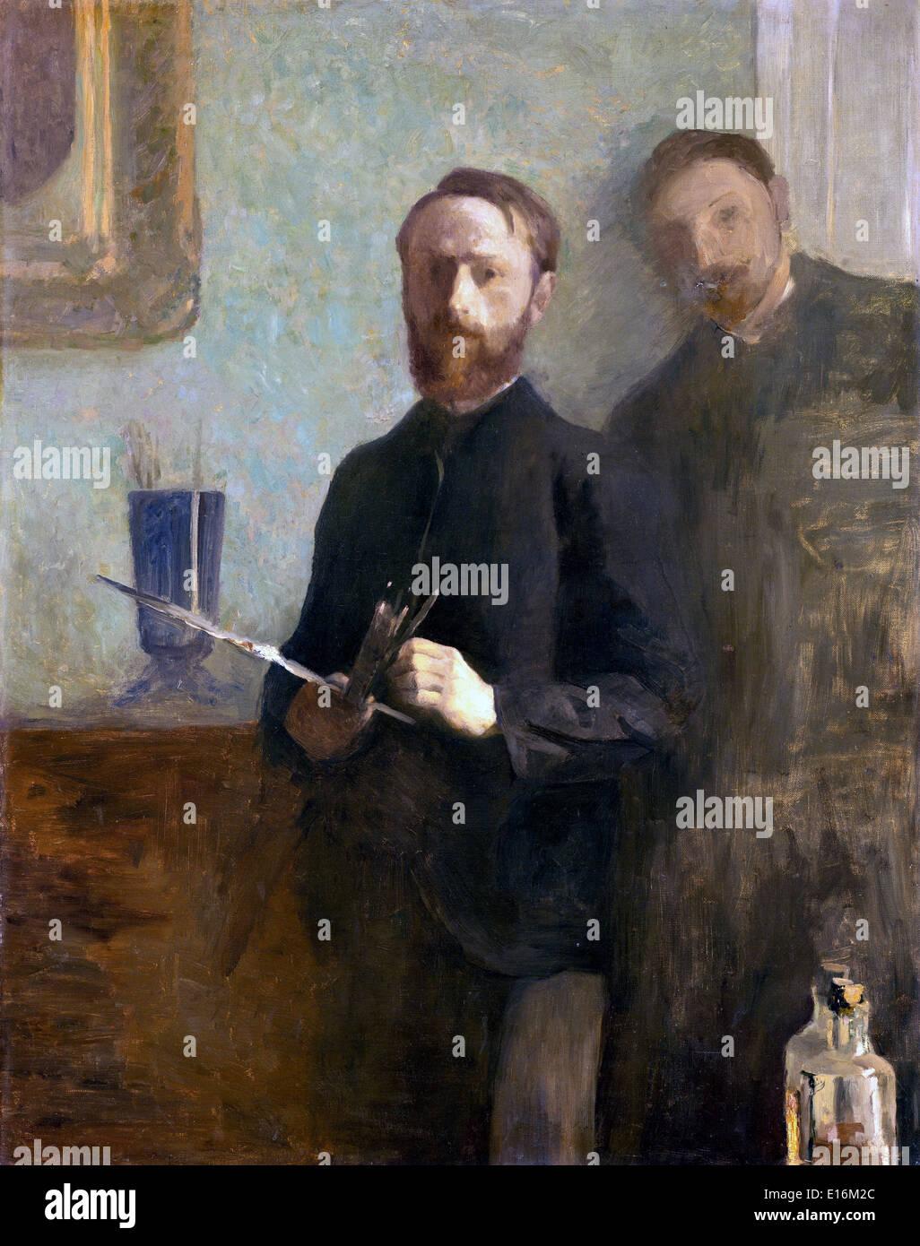 Self-Portrait with Waroquy Edouard Vuillard, 1889 - Stock Image