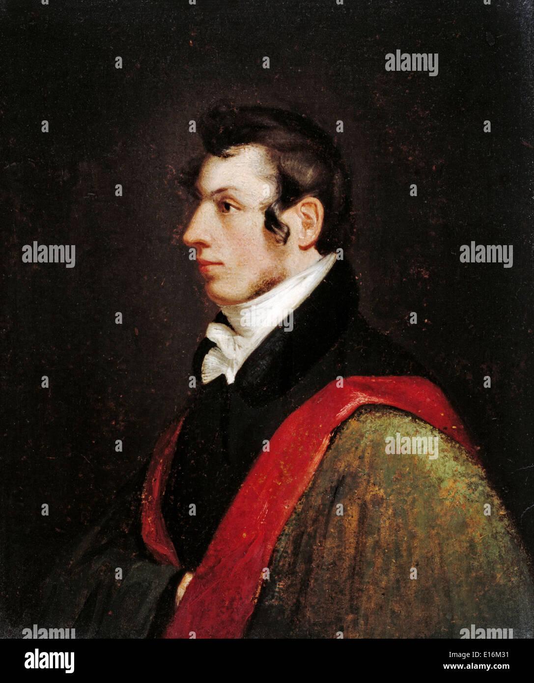 Samuel Morse (the Morse code inventor), Self-portrait, 1812 - Stock Image