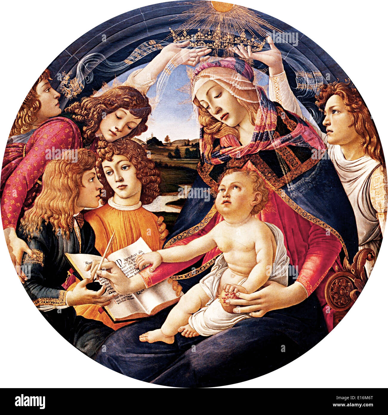 Madonna of the Magnificat by Sandro Botticelli, 1481 - Stock Image