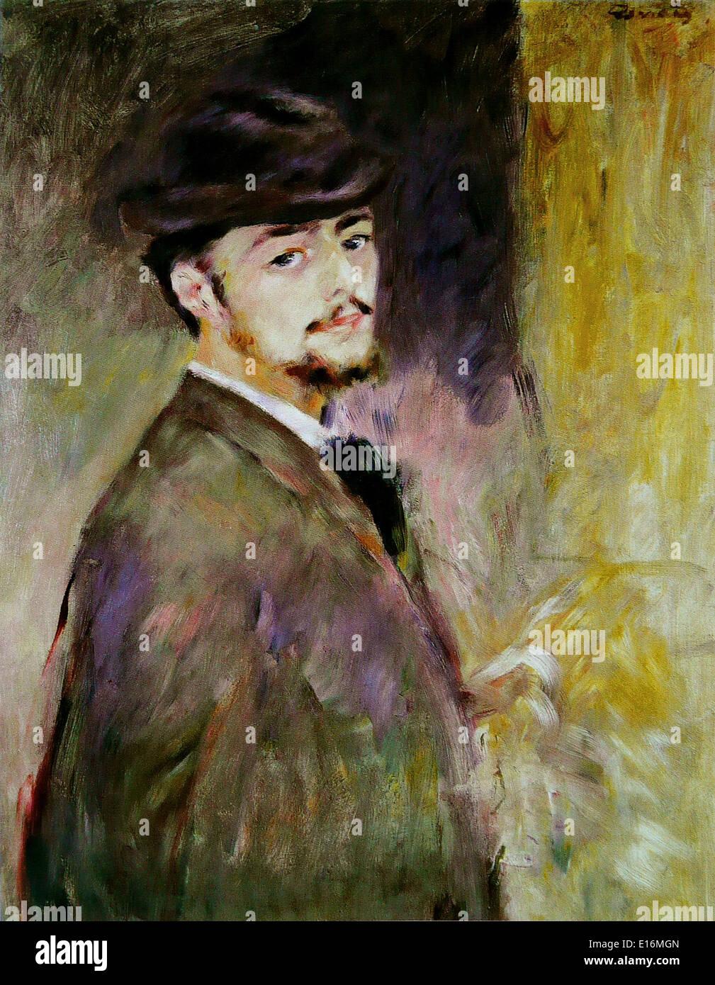 Self-Portrait by Pierre-Auguste Renoir, 1876 - Stock Image