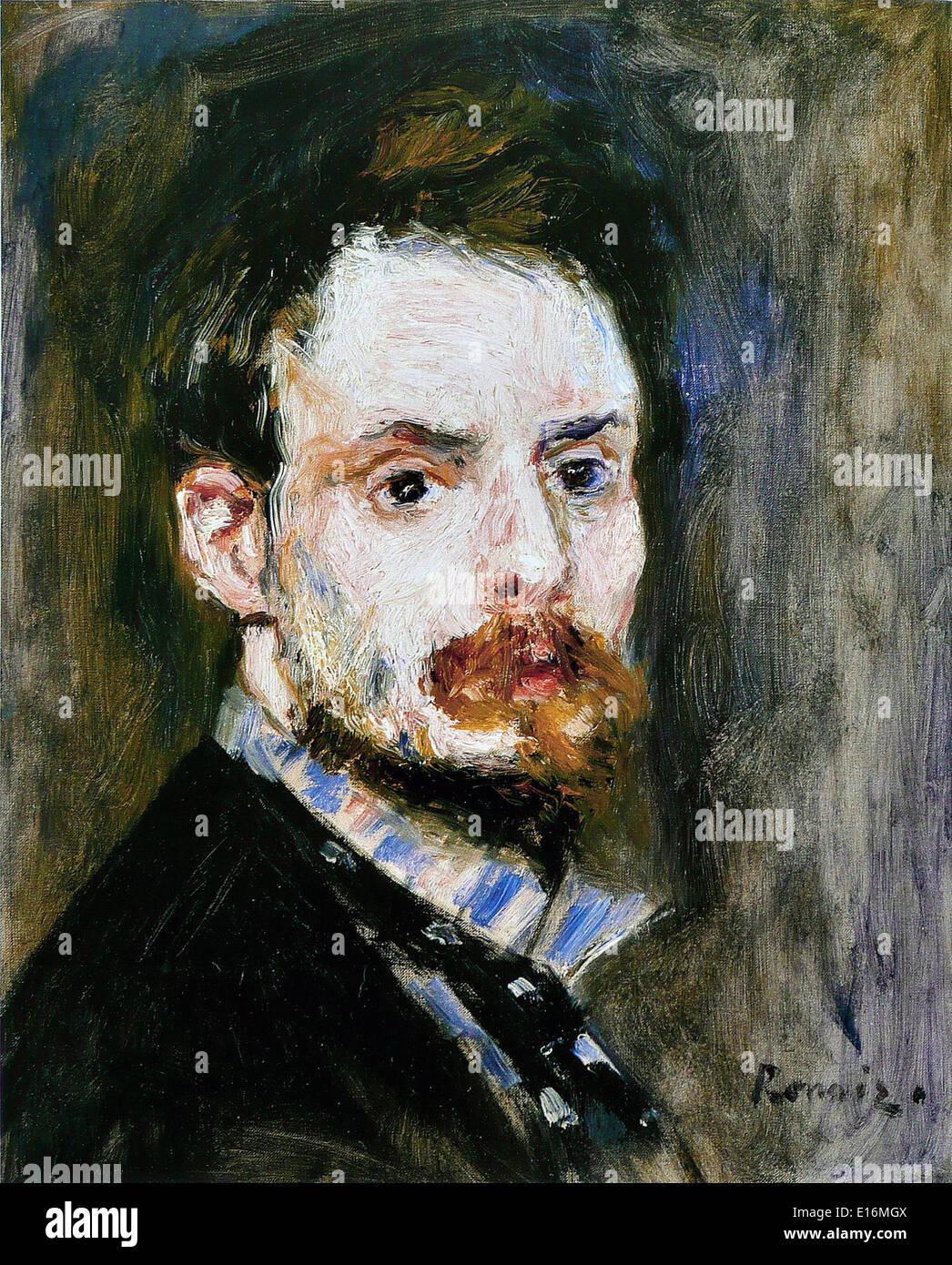 Self-Portrait by Pierre-Auguste Renoir, 1875 - Stock Image