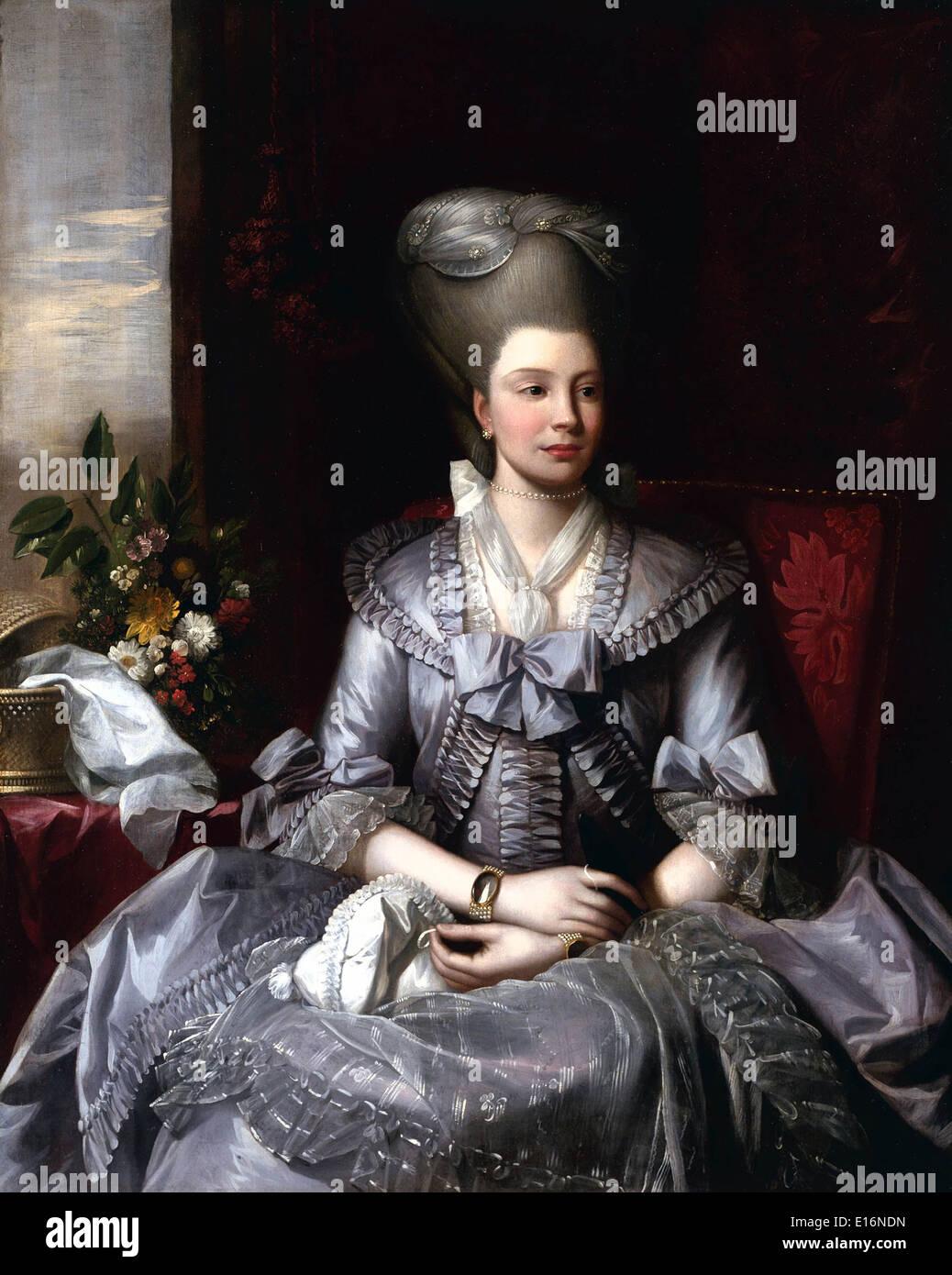 Queen Charlotte by Benjamin West, 1776 - Stock Image