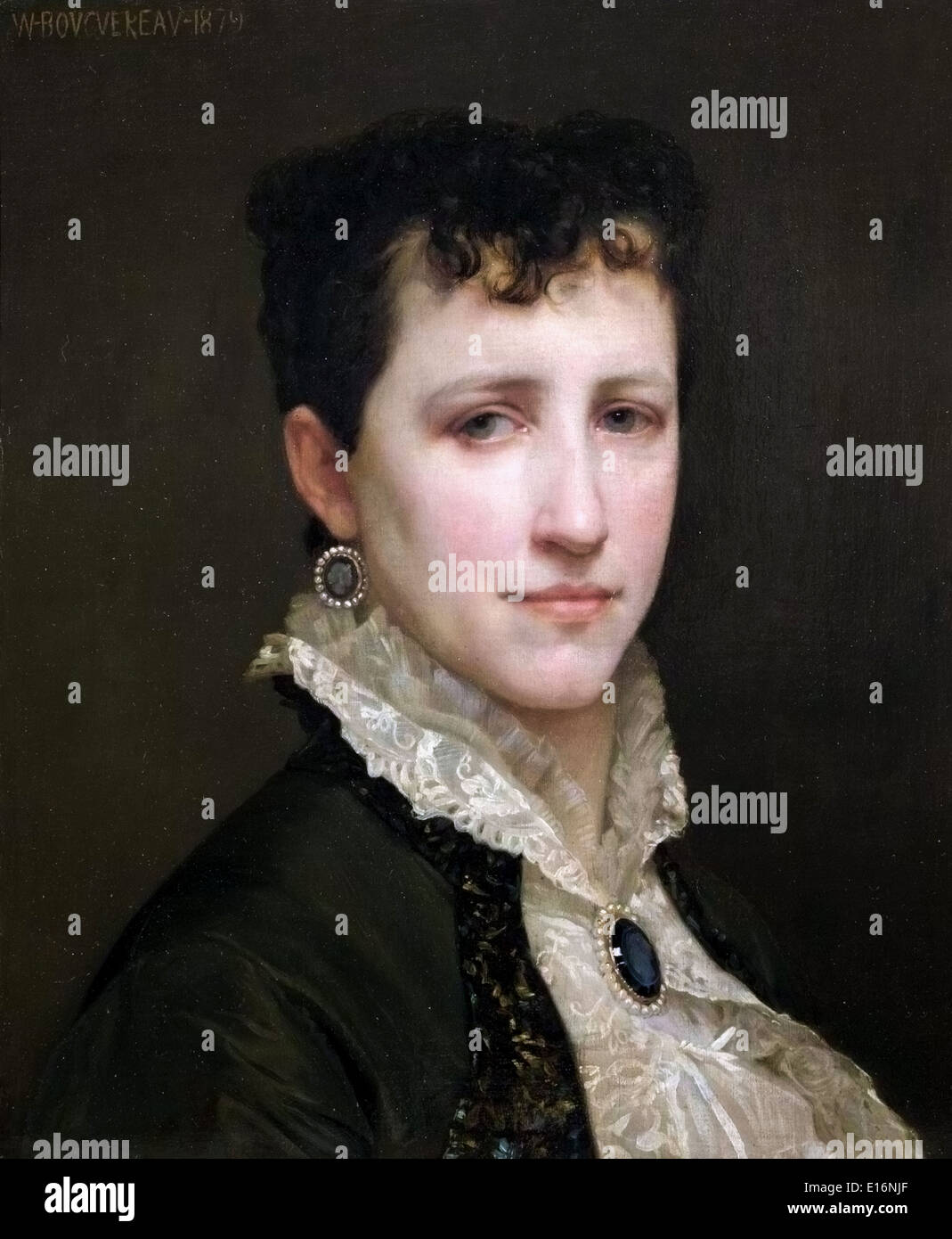 Portrait of Miss Elizabeth Gardner by William-Adolphe Bouguereau, 1879 - Stock Image