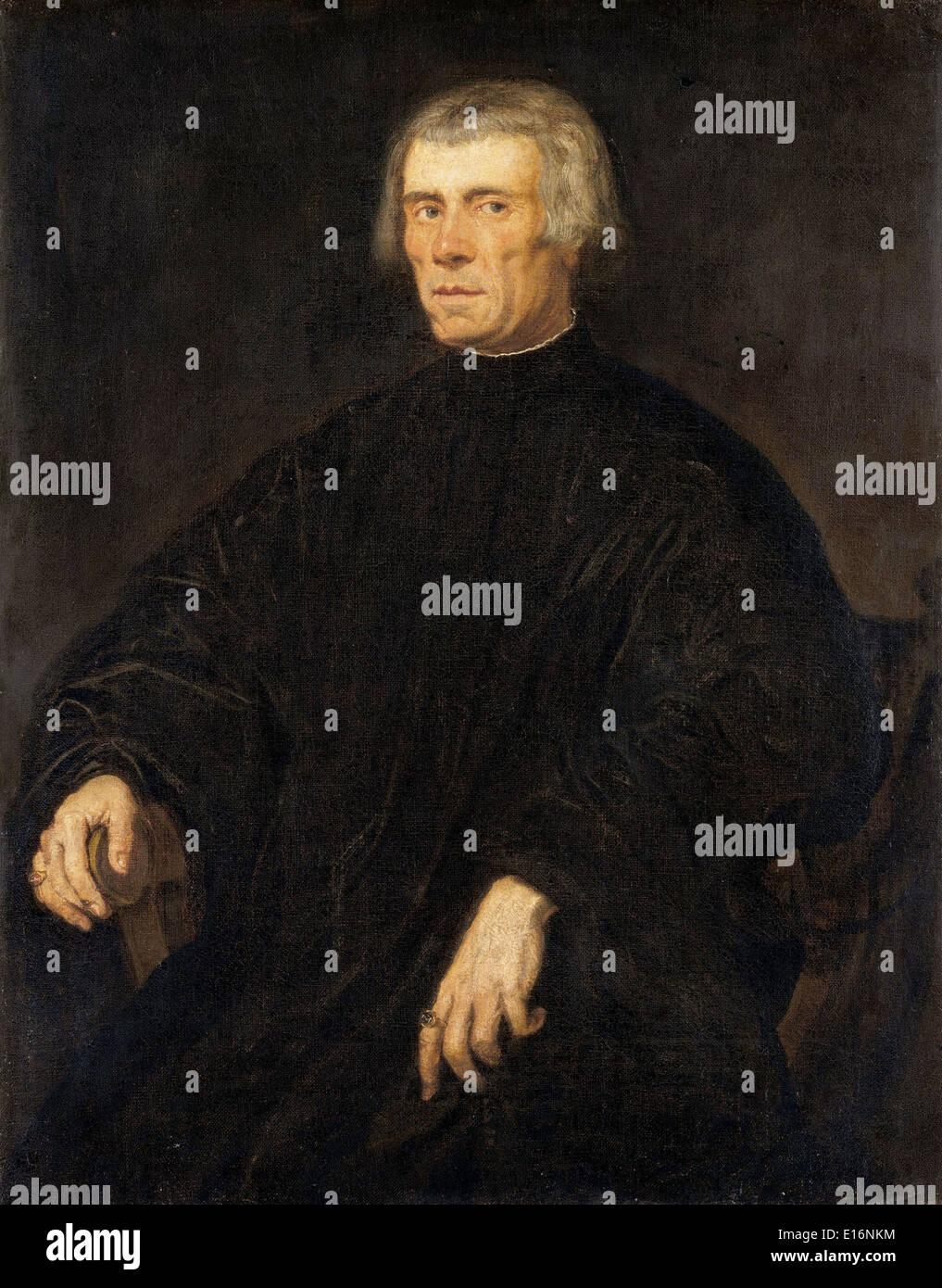 Portrait of a Man by Tintoretto, 1540 Stock Photo