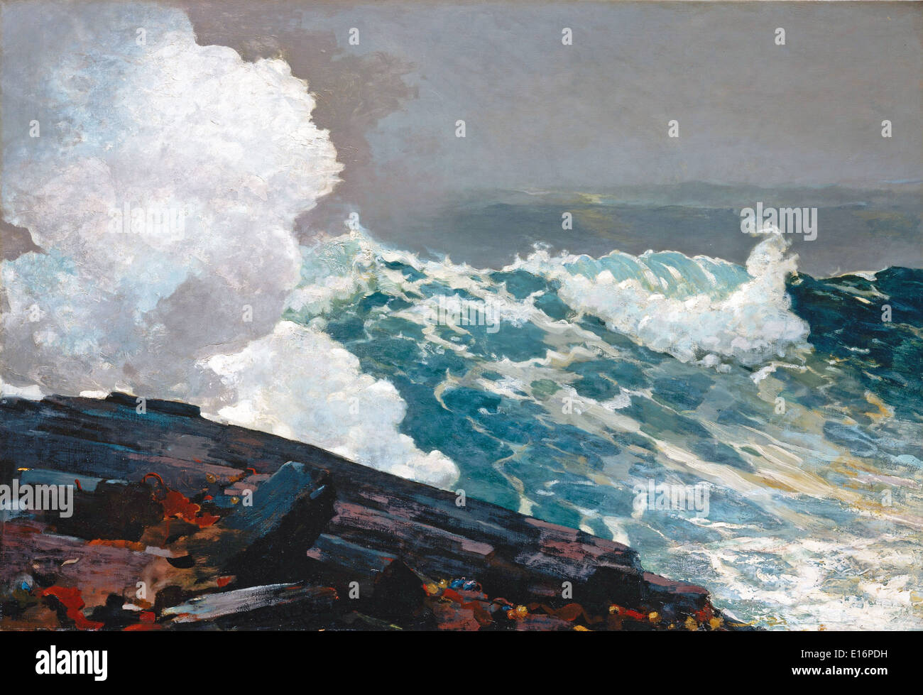 Northeaster by Winslow Homer, 1895 - Stock Image