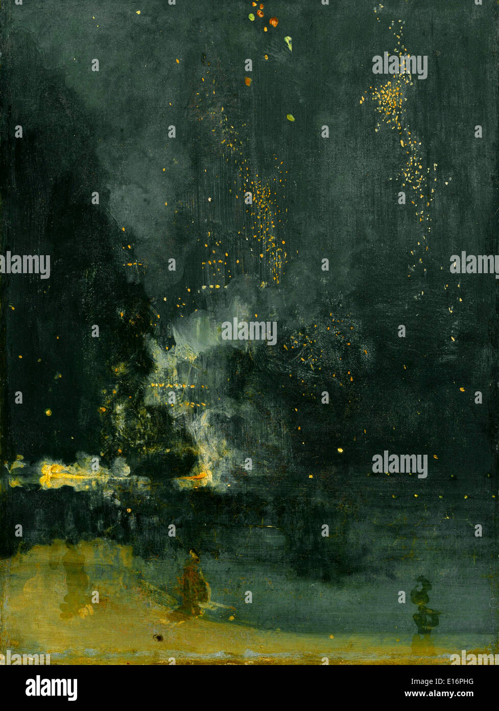 Nocturne in Black and Gold - The Falling Rocket by James McNeill Whistler, 1875 - Stock Image
