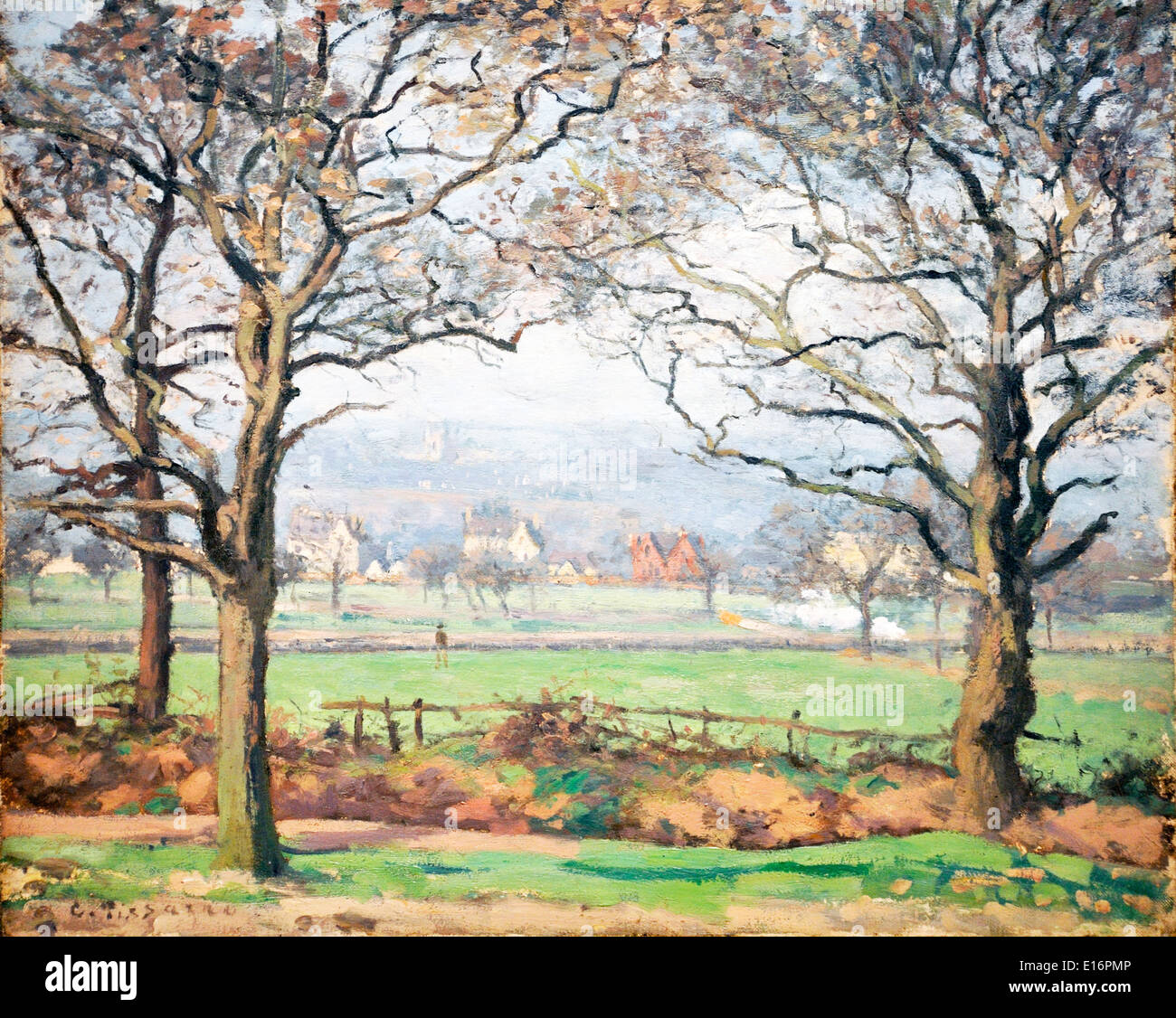 Near Sydenham Hill, Looking towards Lower Norwood by Camille Pissarro,1871 - Stock Image