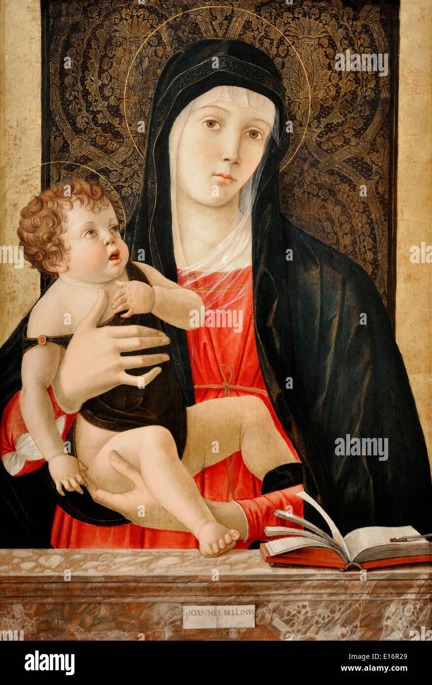 Madonna by Giovanni Bellini, 1465 - Stock Image