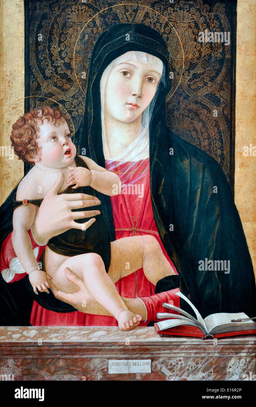 Madonna by Bellini, 1465 - Stock Image