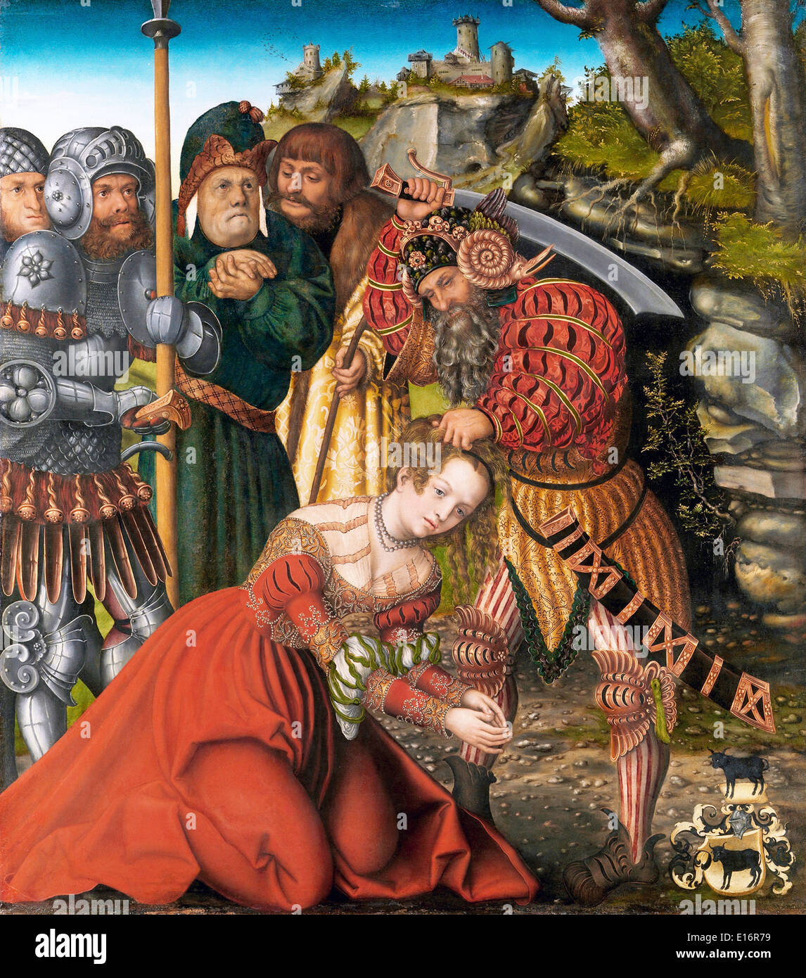 The Martyrdom of Saint Barbara by Lucas Cranach the Elder, 1510 - Stock Image