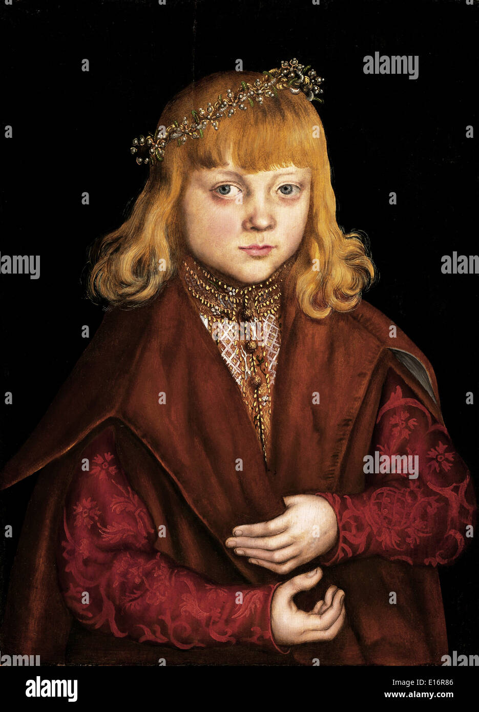 A Prince of Saxony by  Lucas Cranach, 1517 - Stock Image