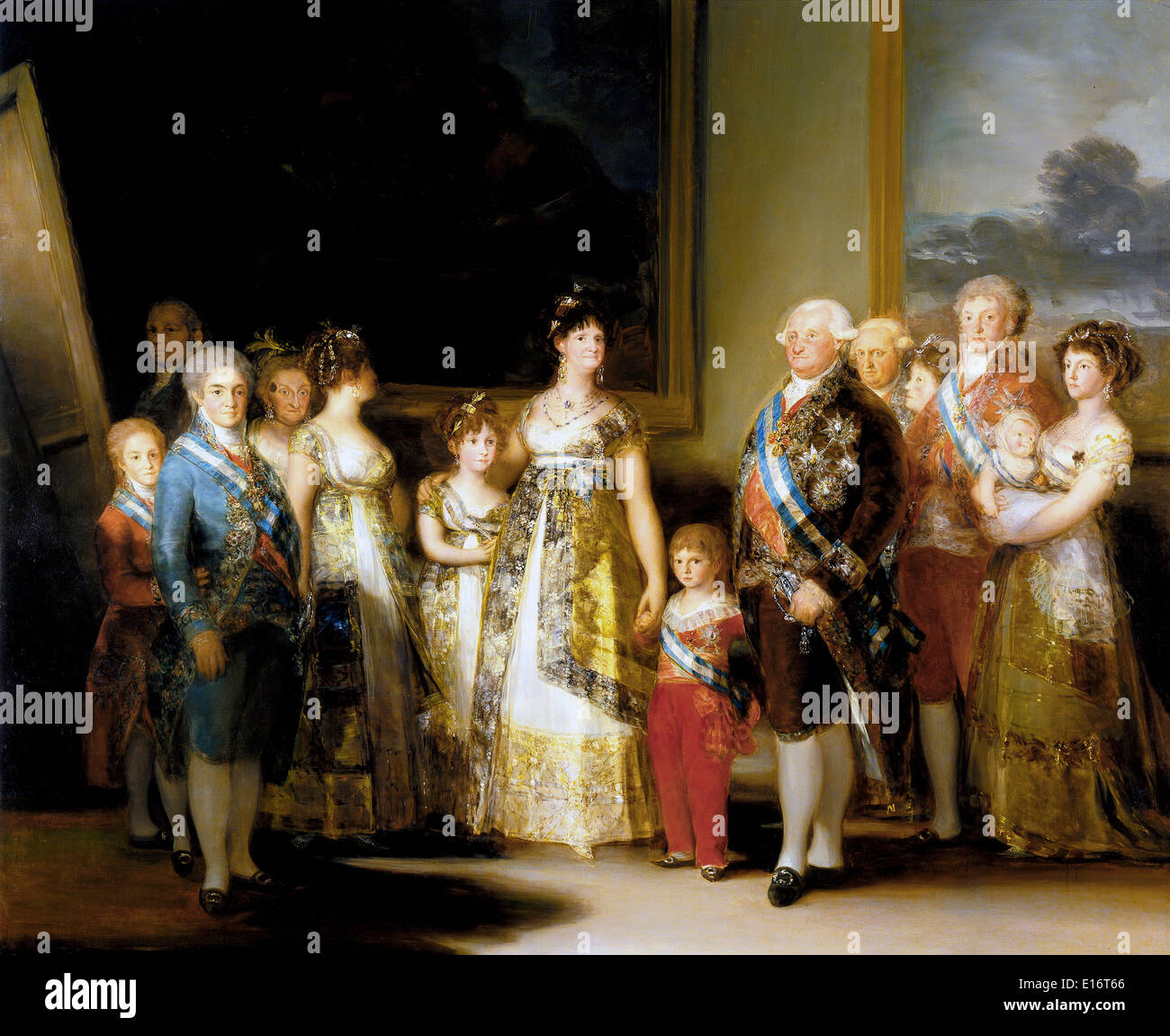 Charles IV of Spain and His Family by Francisco de Goya, 1800 - Stock Image