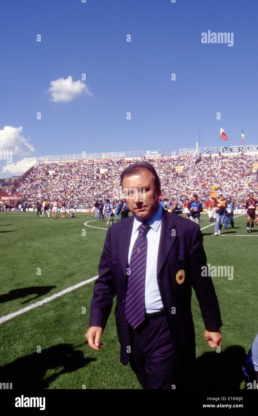 Alberto Zaccheroni (Milan), 1998/1999 - Football/Soccer : Italian 'Serie A' match in Italy. © Maurizio Borsari/AFLO/Alamy Live News - Stock Image