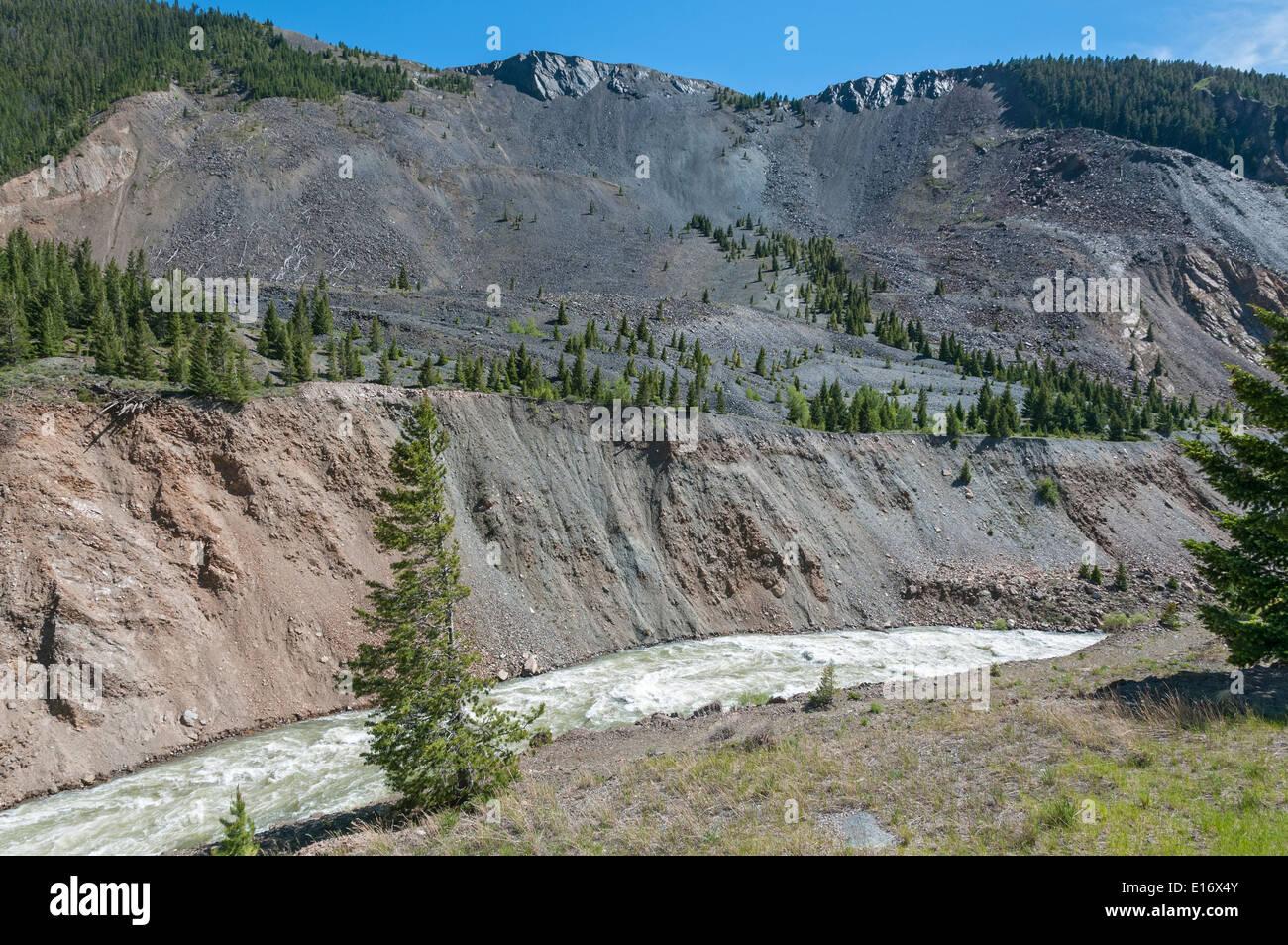montana madison river canyon 1959 hebgen lake earthquake slide