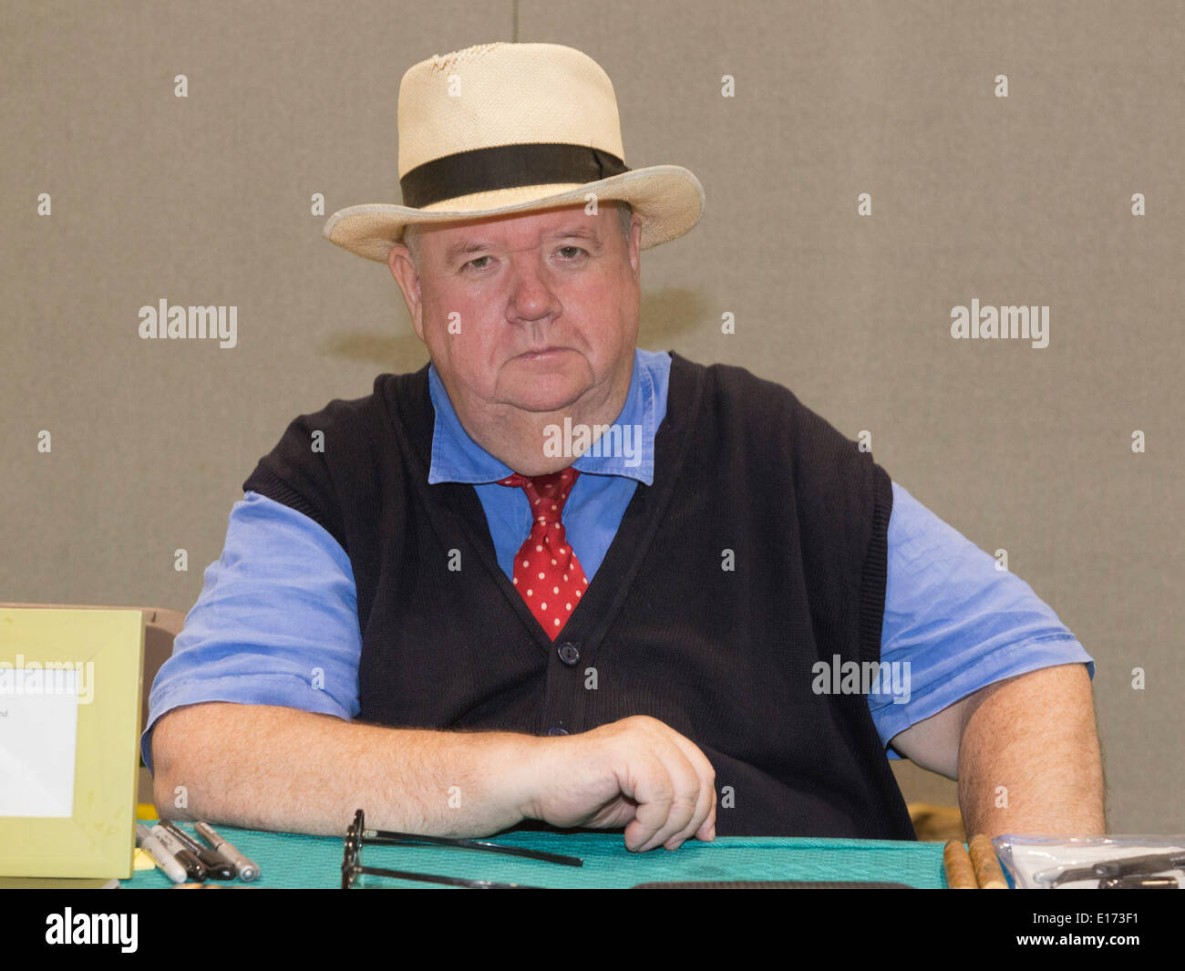 London, UK. 25 May 2014. Actor Ian McNeice. The MCM London ... Ian Mcneice In Harry Potter