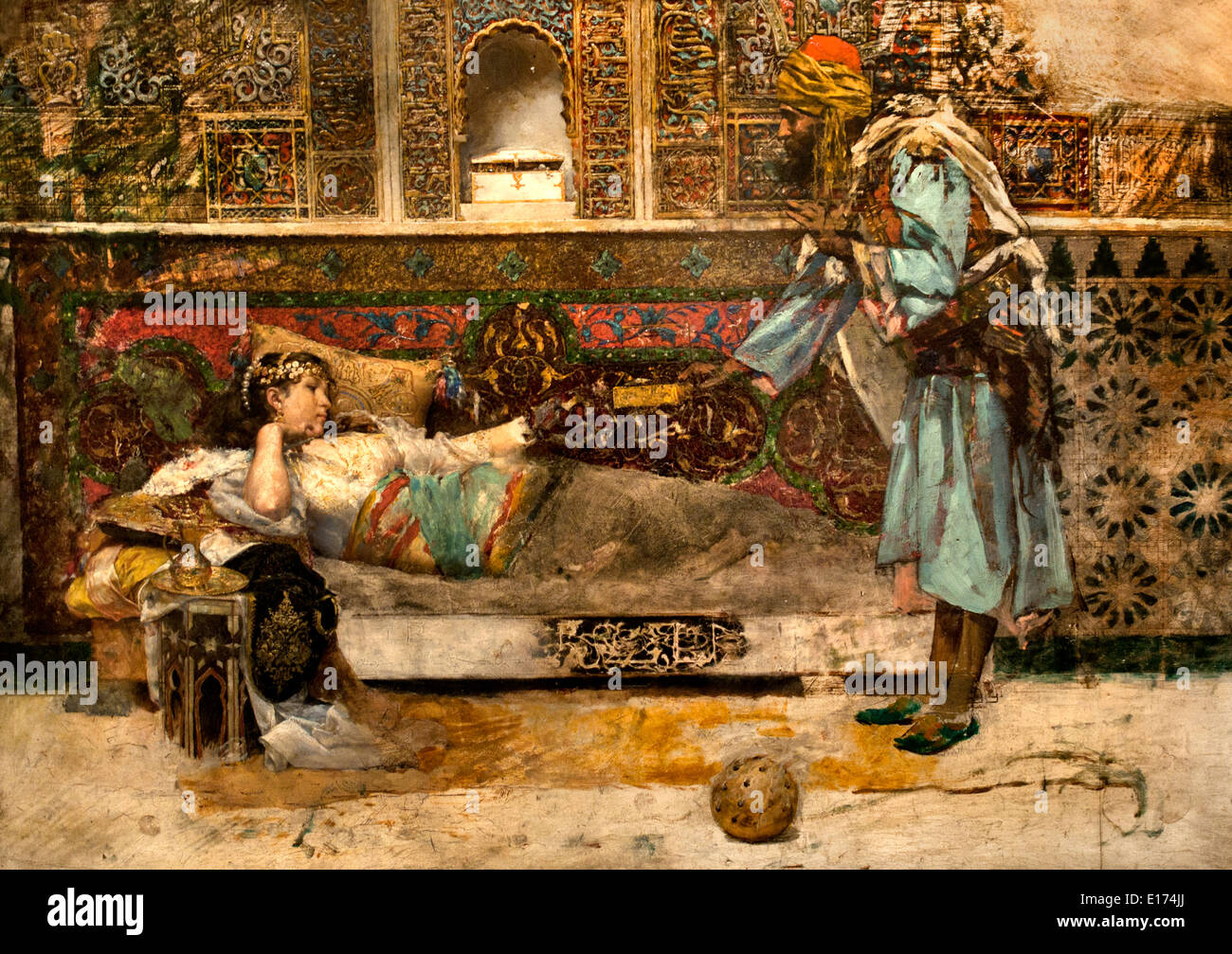 The Sultan's Gift 1885-1886 Antoni Fabrés  1854 – 1938 Spain Spanish - Stock Image