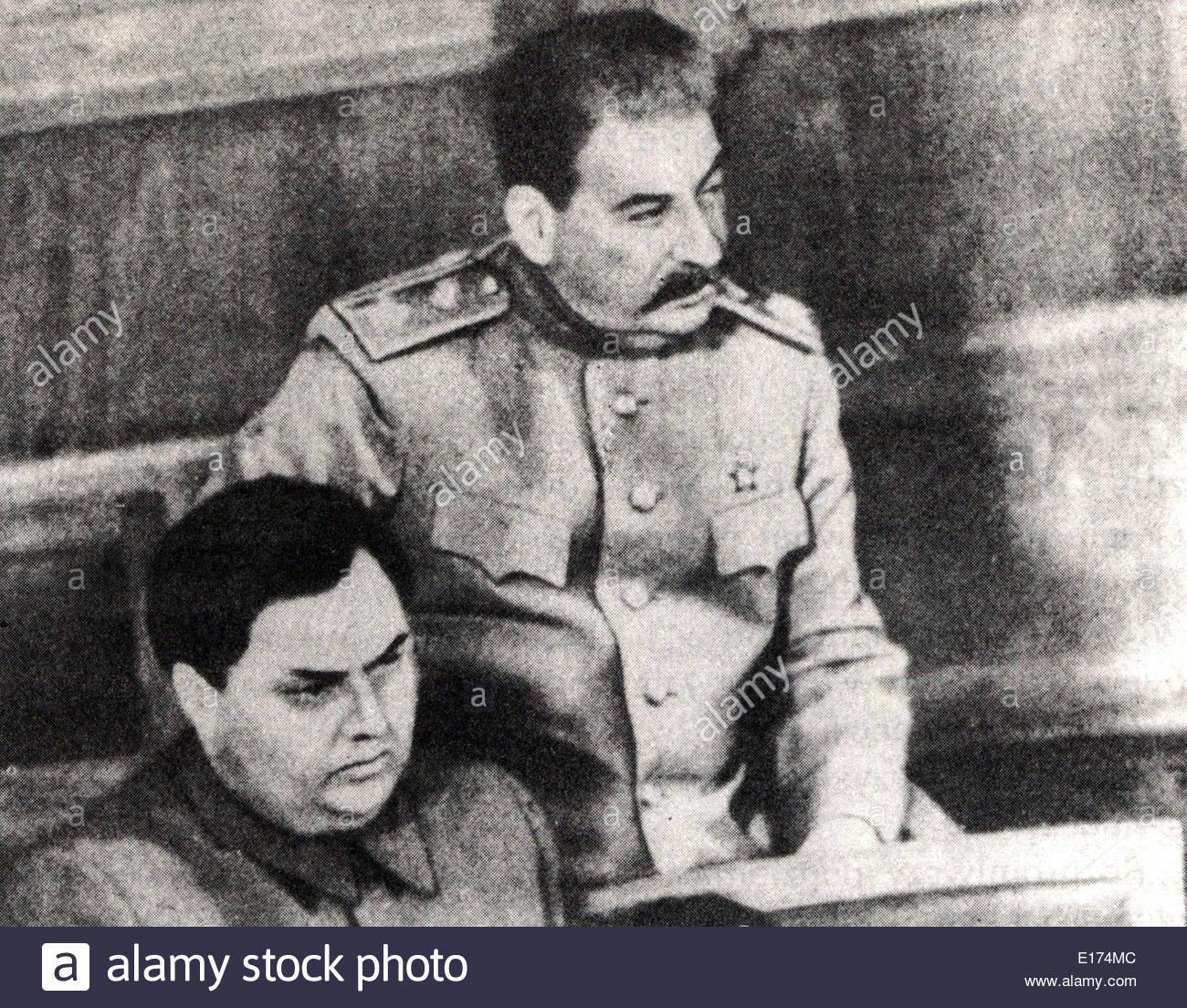 Georgy Malenkow and joseph Stalin - Stock Image