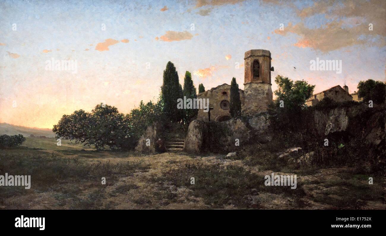 The Bell for Prayer1876 Modest Urgell 1839-1919 Spain Spanish - Stock Image