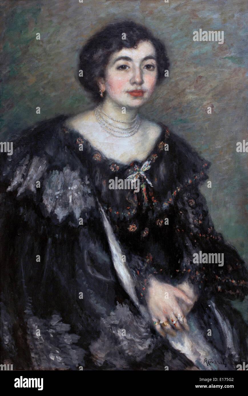 Portrait of Senyora Amouroux, the Artist's Sister-in-Law Portrait of Senyora Amouroux, Ricard Canals 1876-1931 - Stock Image