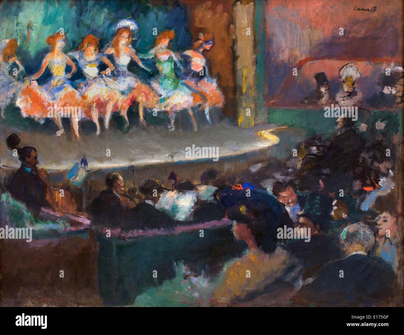 Café concert 1903 Ricard Canals 1876-1931 Spain Spanish - Stock Image