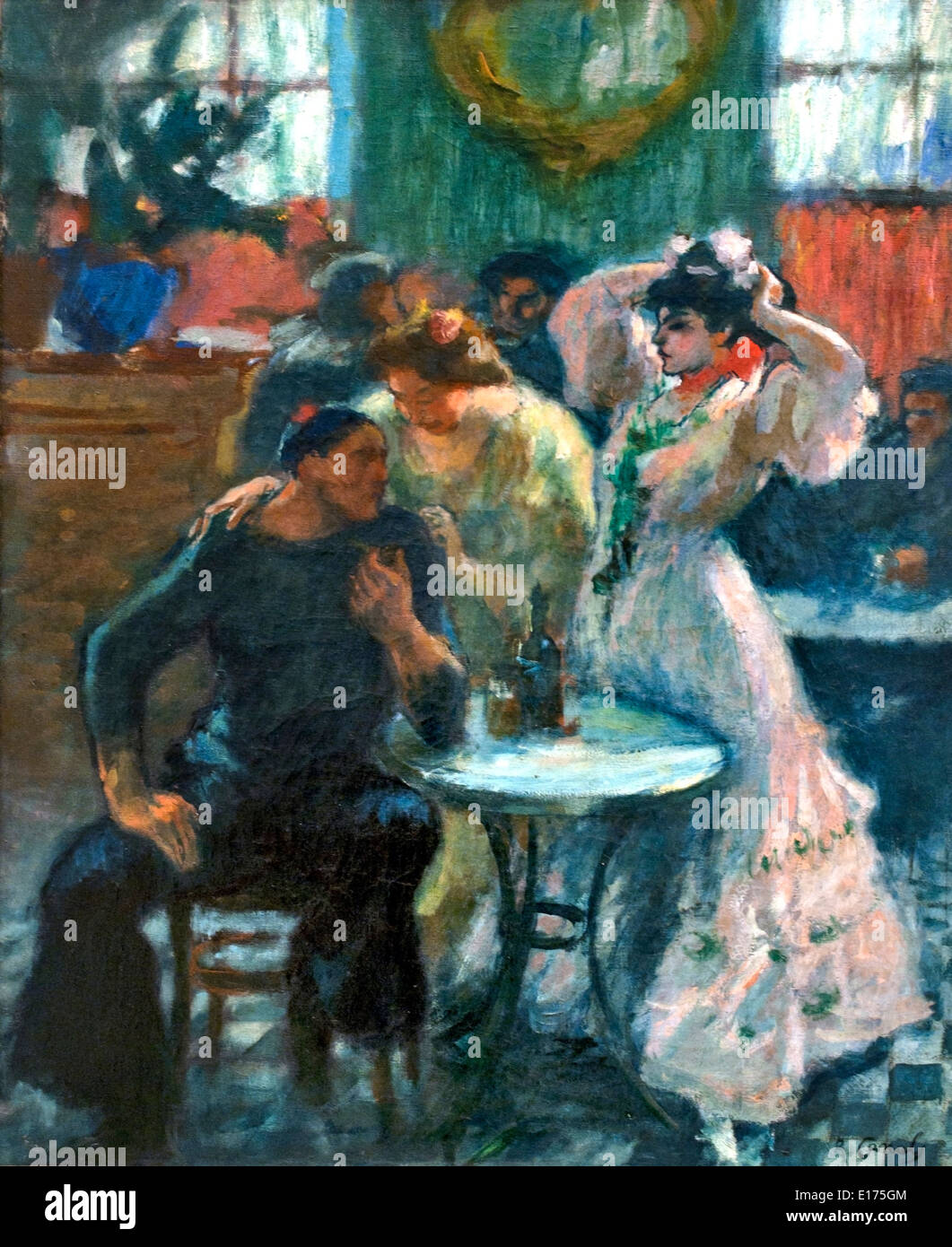 In the Bar 1910 Ricard Canals 1876-1931 Spain Spanish - Stock Image