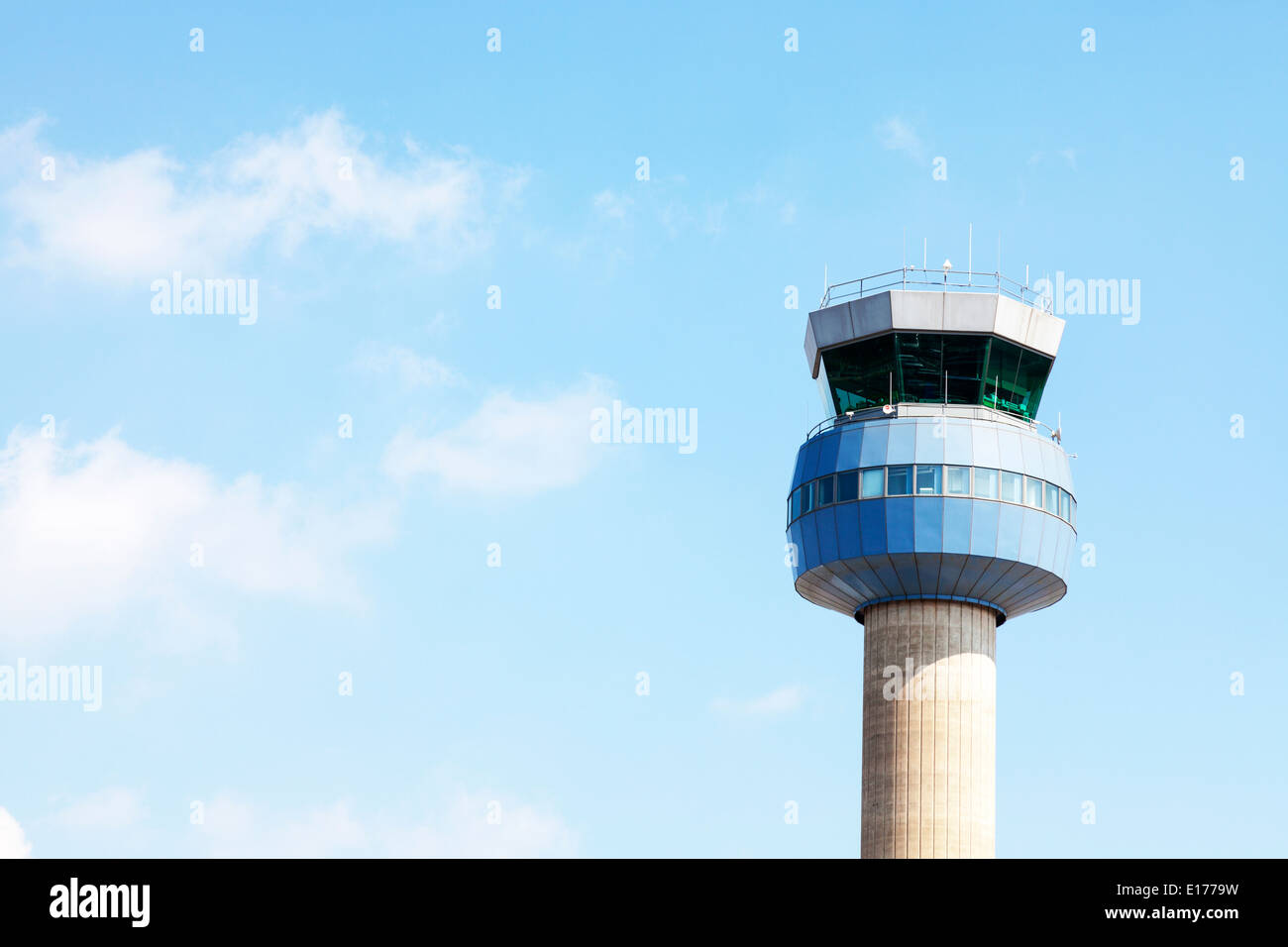 East Midlands airport Aircraft control tower Nottingham east midlands airport england - Stock Image