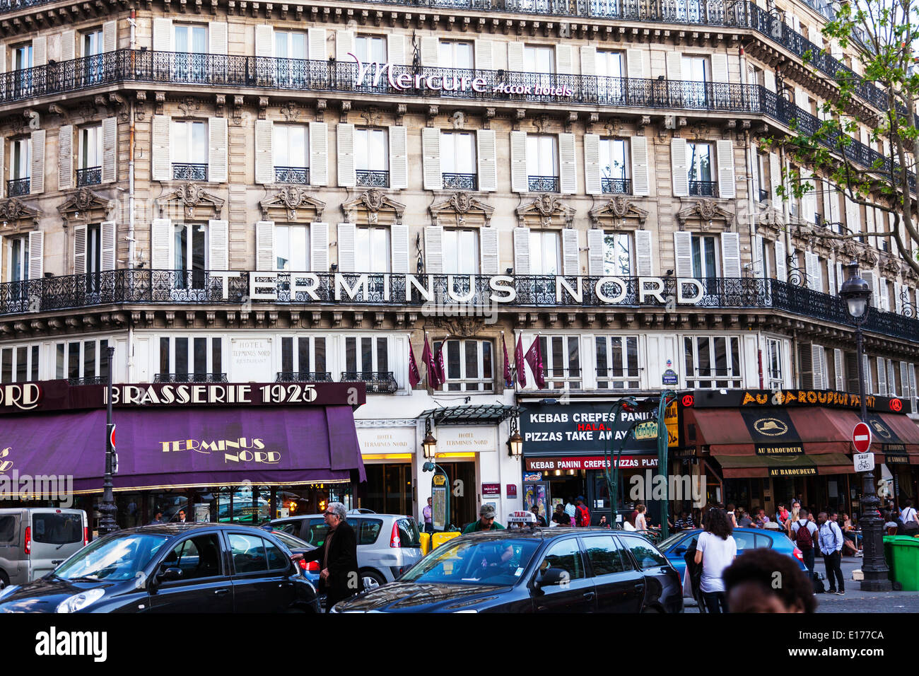 the hotel terminus nord in paris stock photos the hotel terminus nord in paris stock images. Black Bedroom Furniture Sets. Home Design Ideas