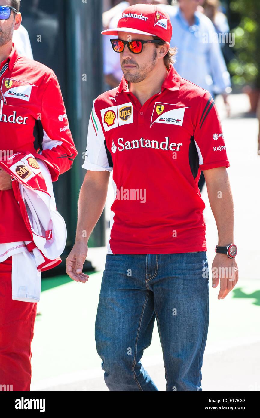 Fernando Alonso, driver for Ferrari Formula 1 team and former World Champion - Stock Image