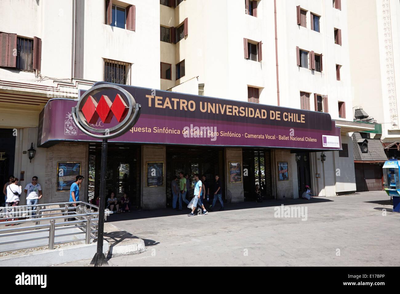 teatro universidad de chile Santiago Chile - Stock Image